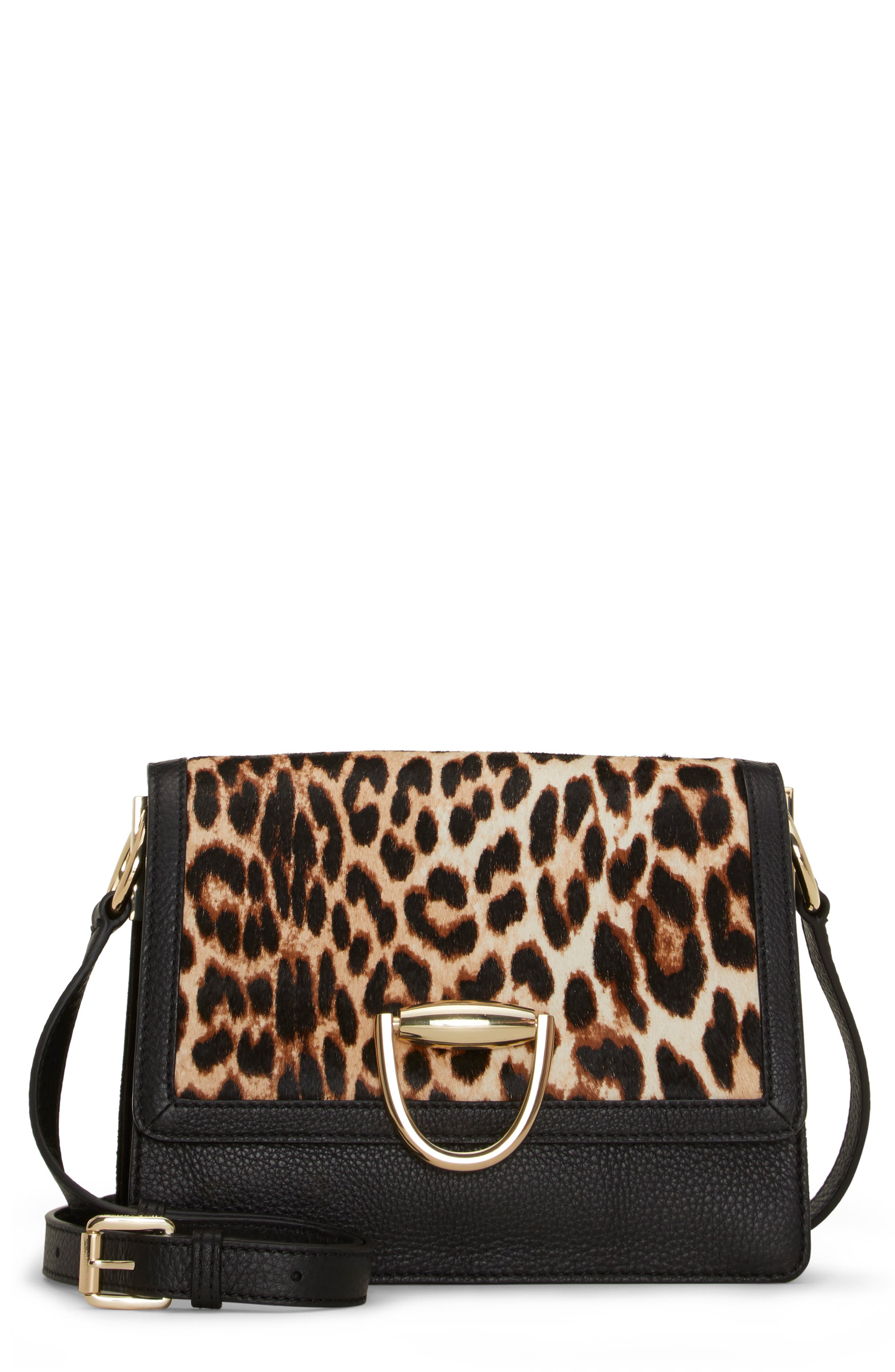 Kirisi Leather & Genuine Calf Hair Crossbody Bag,                         Main,                         color, 204