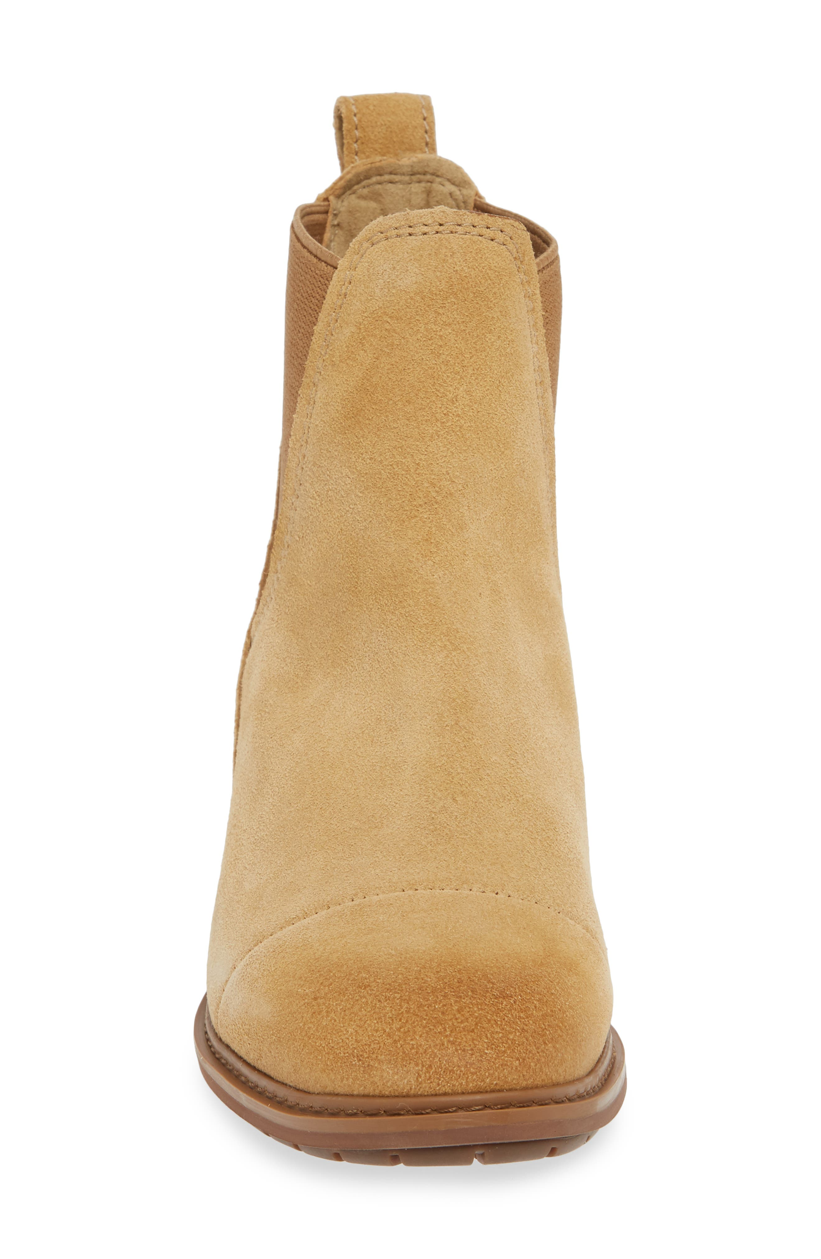 TIMBERLAND,                             Sutherlin Bay Slouch Chelsea Bootie,                             Alternate thumbnail 4, color,                             ICED COFFEE SUEDE