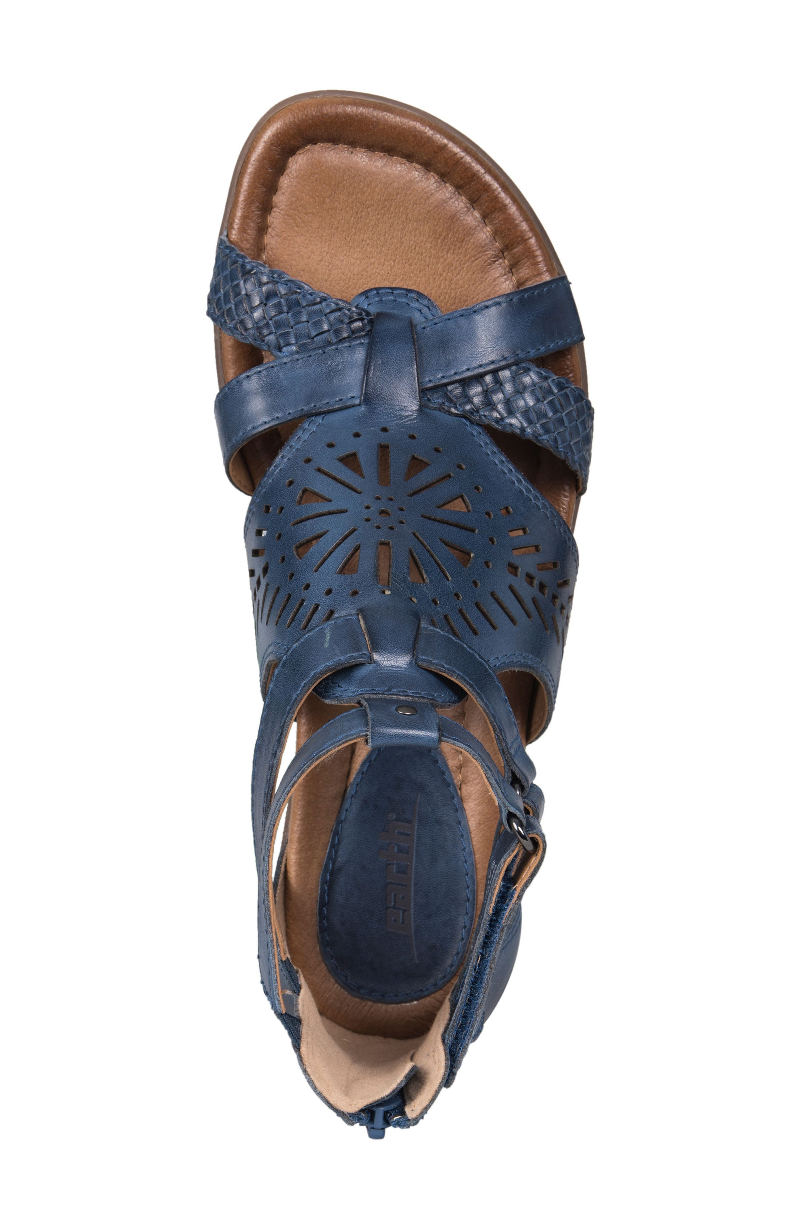 Breaker Sandal,                             Alternate thumbnail 5, color,                             SAPPHIRE BLUE LEATHER