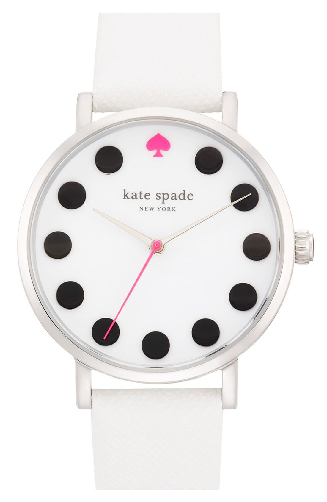 'metro' boxed dot dial watch & straps set, 34mm,                             Alternate thumbnail 5, color,                             100