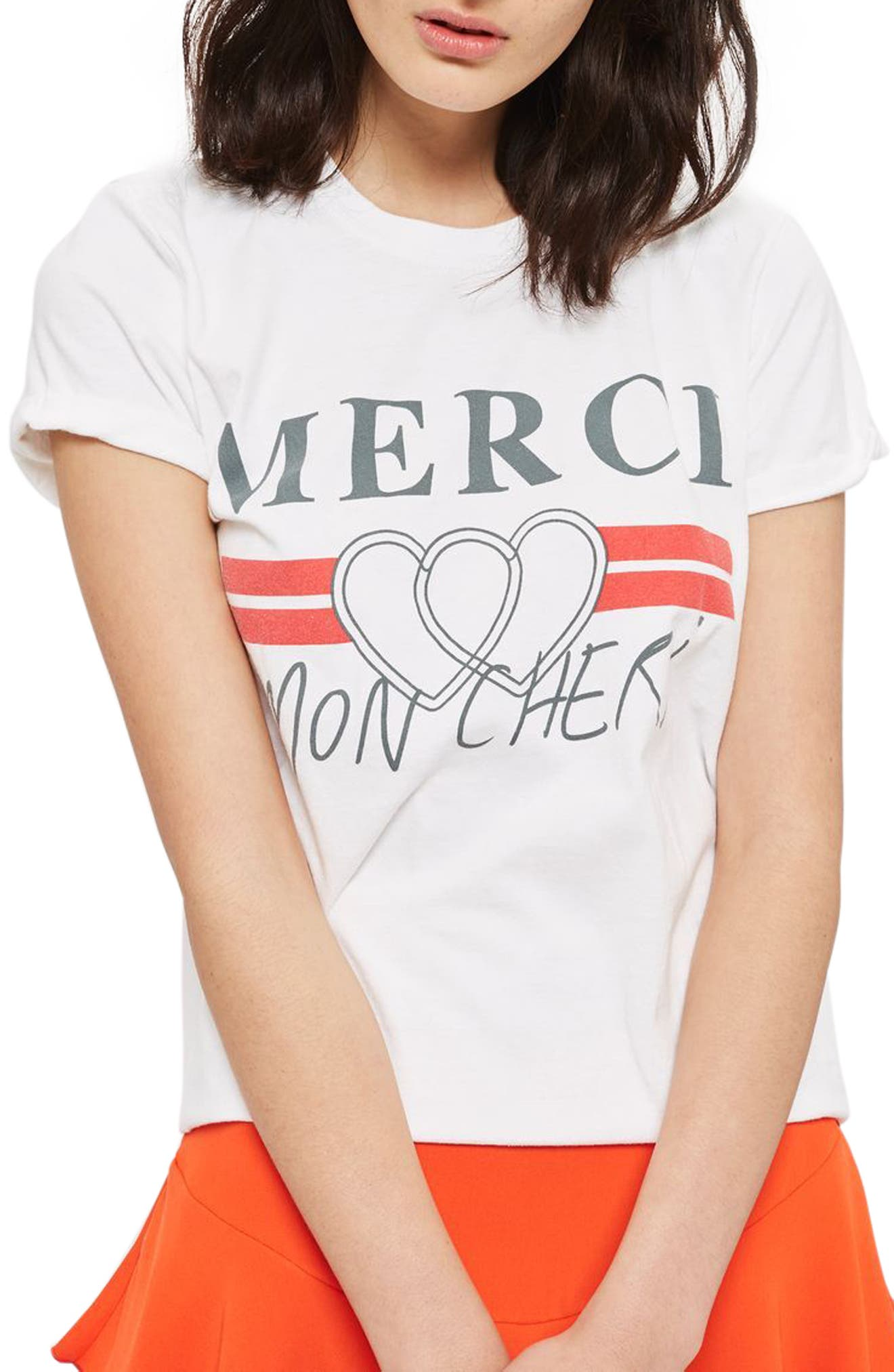 Merci Mon Cheri Tee, Main, color, 100