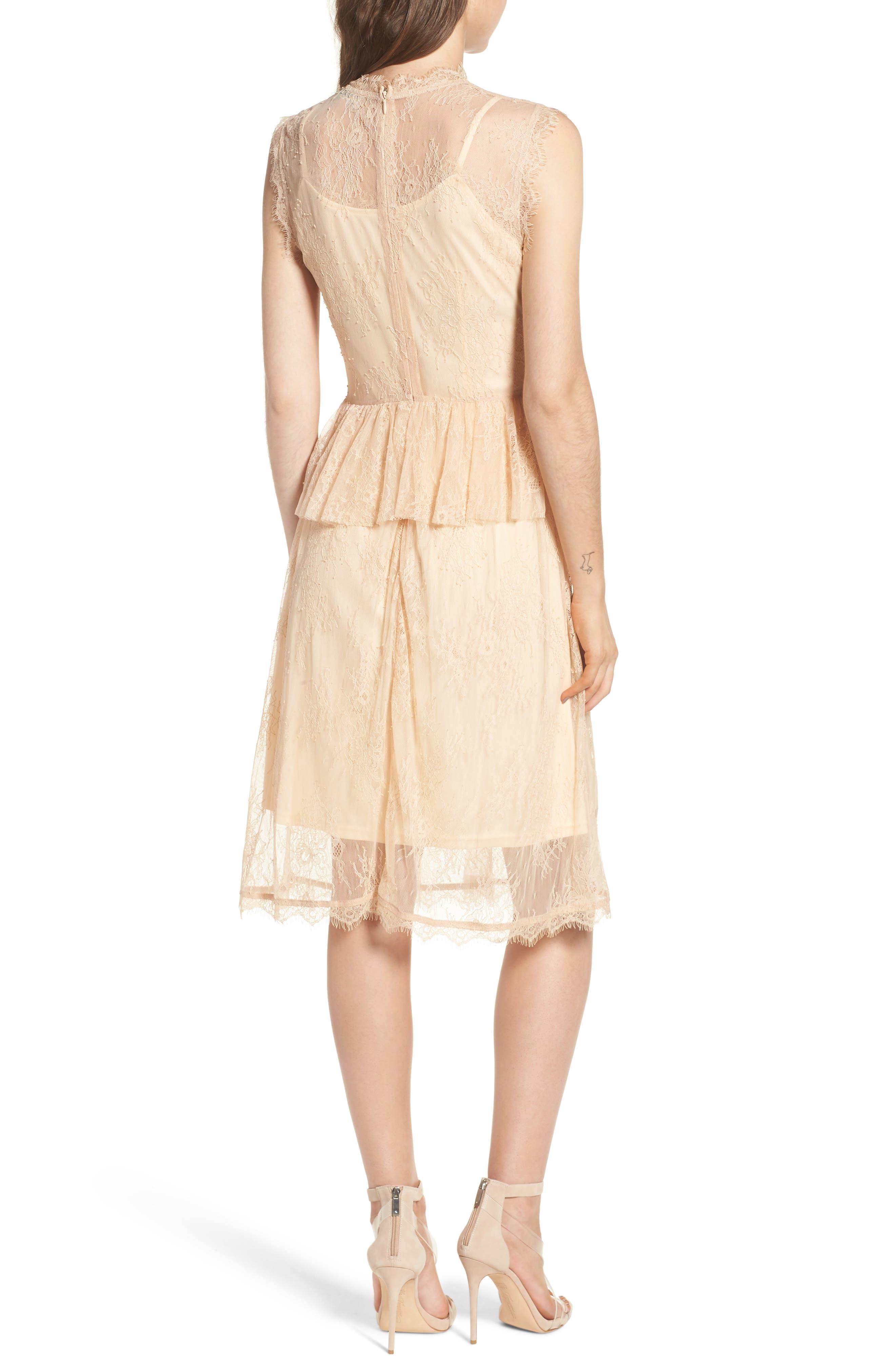 Lace Fit & Flare Dress,                             Alternate thumbnail 2, color,                             250