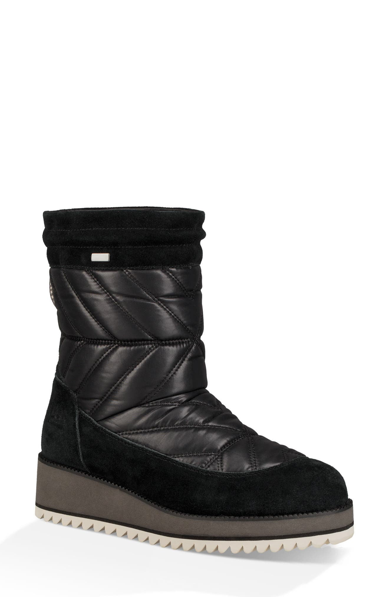 Beck Waterproof Quilted Boot,                             Main thumbnail 1, color,                             BLACK