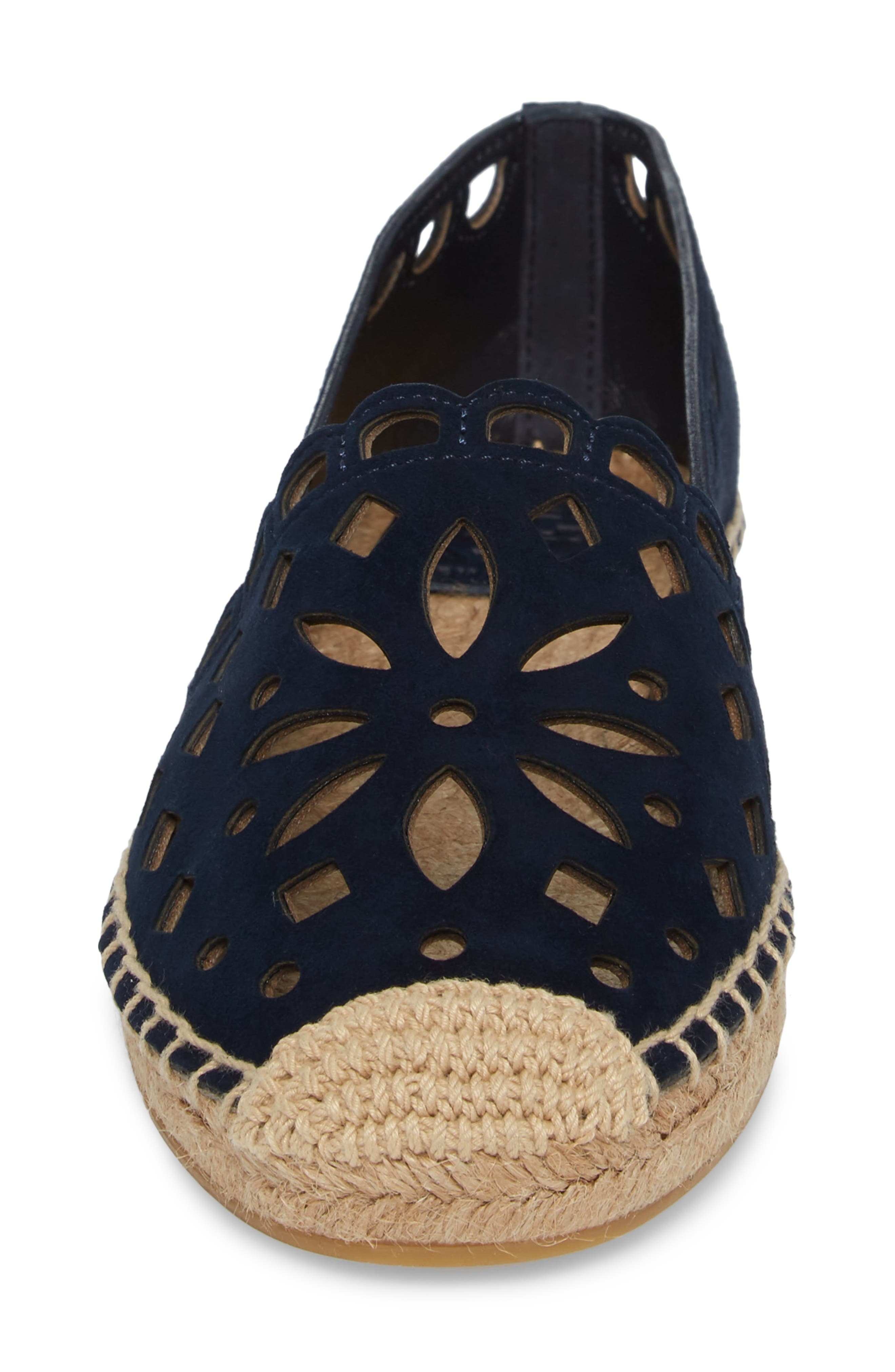 May Perforated Espadrille Flat,                             Alternate thumbnail 4, color,                             430