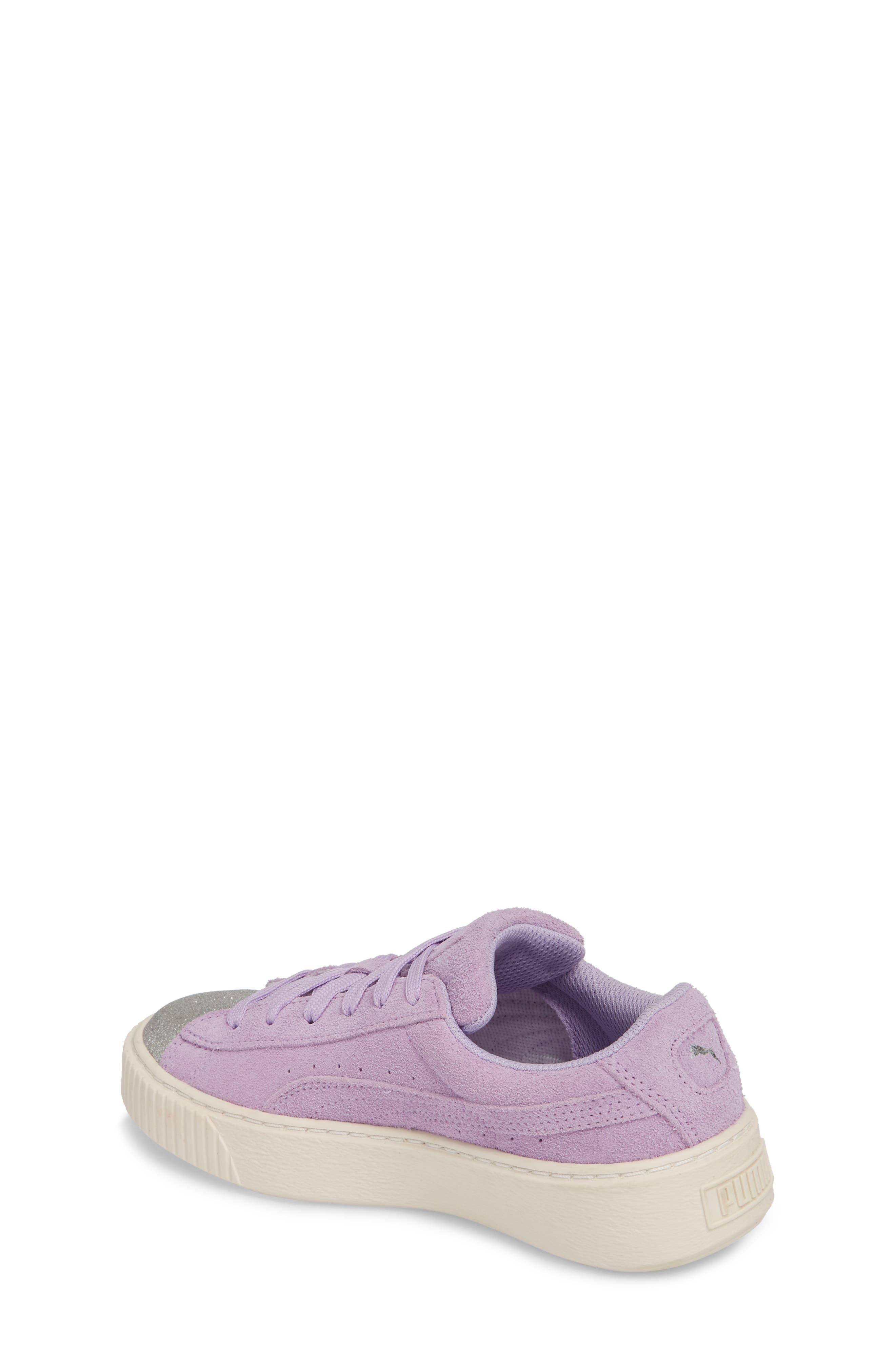Suede Platform Glam PS Sneaker,                             Alternate thumbnail 8, color,