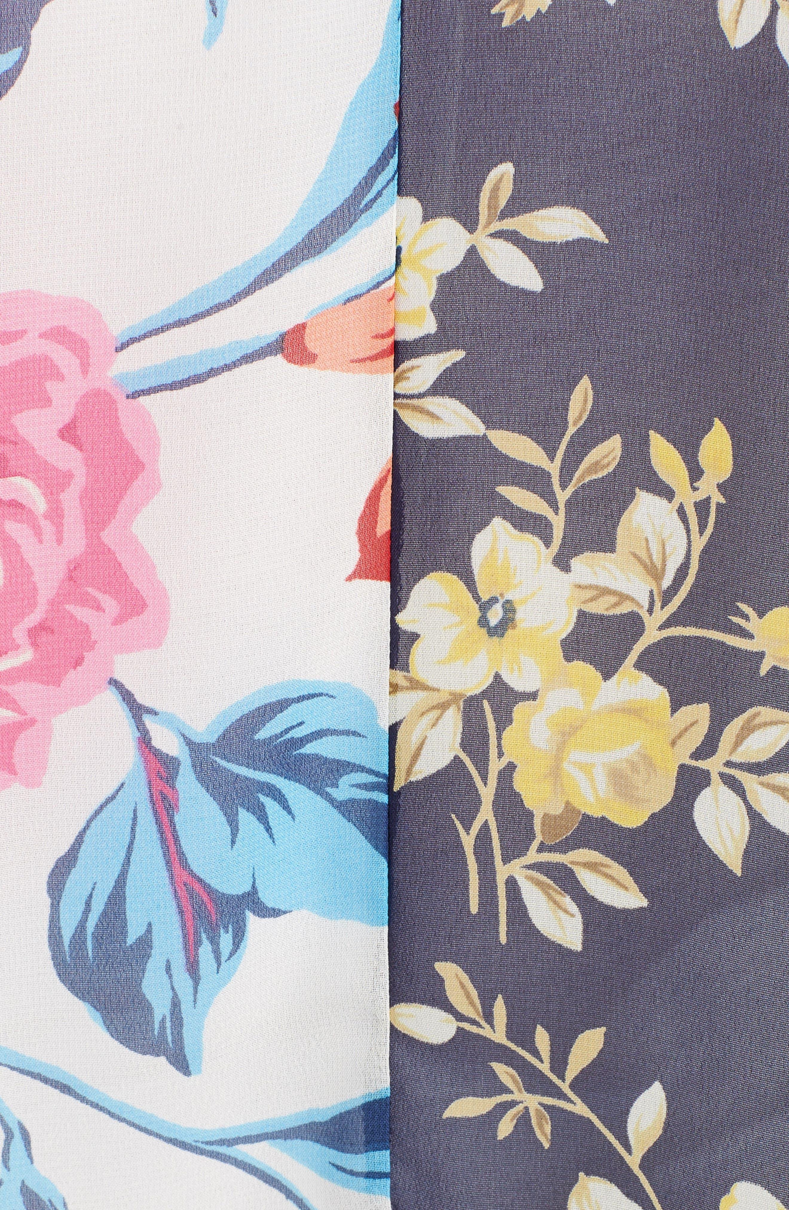 Mix Print Kimono,                             Alternate thumbnail 5, color,                             MULTI COMBO
