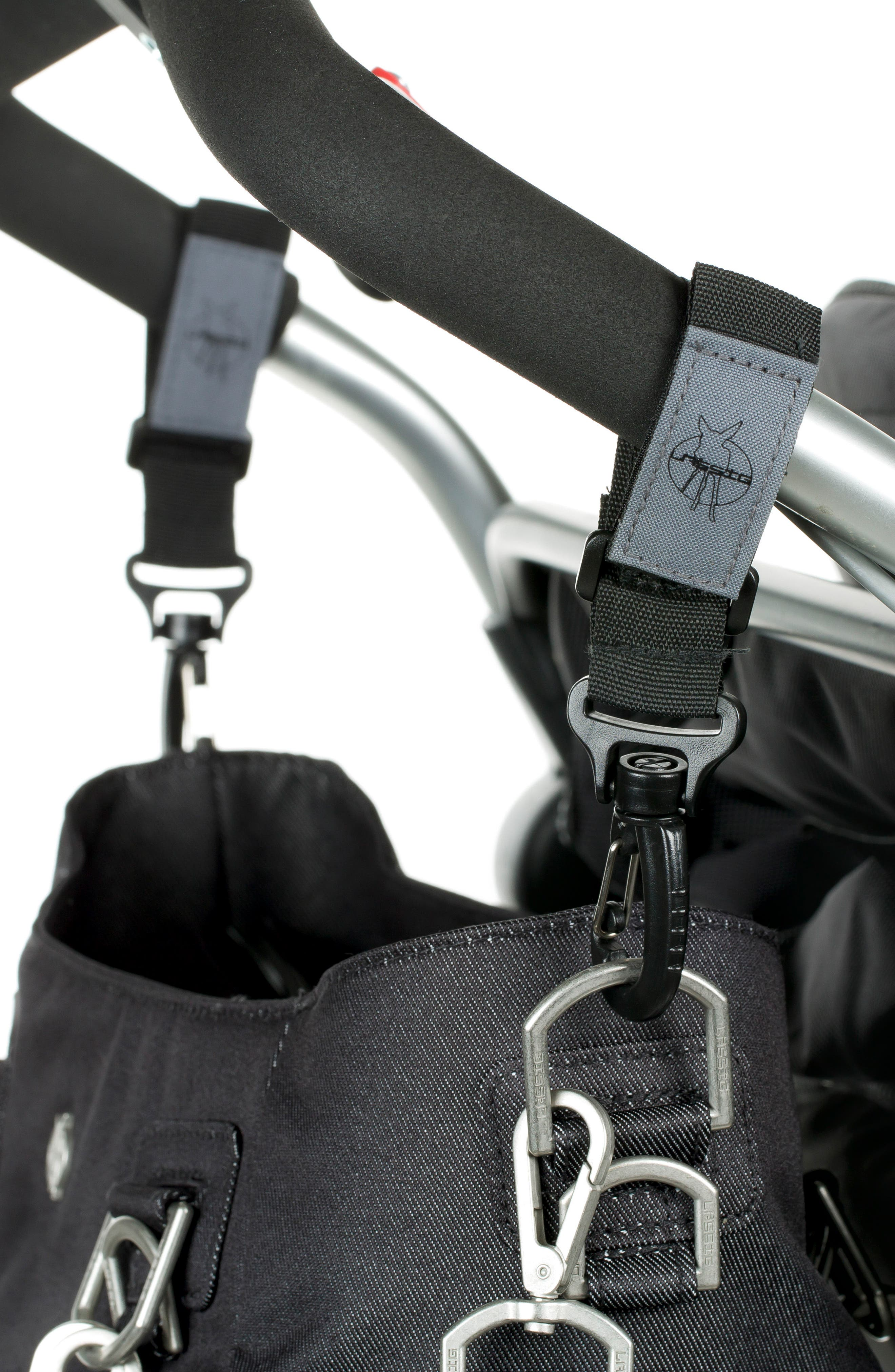 Mix 'N Match Denim Diaper Bag,                             Alternate thumbnail 5, color,                             BLACK