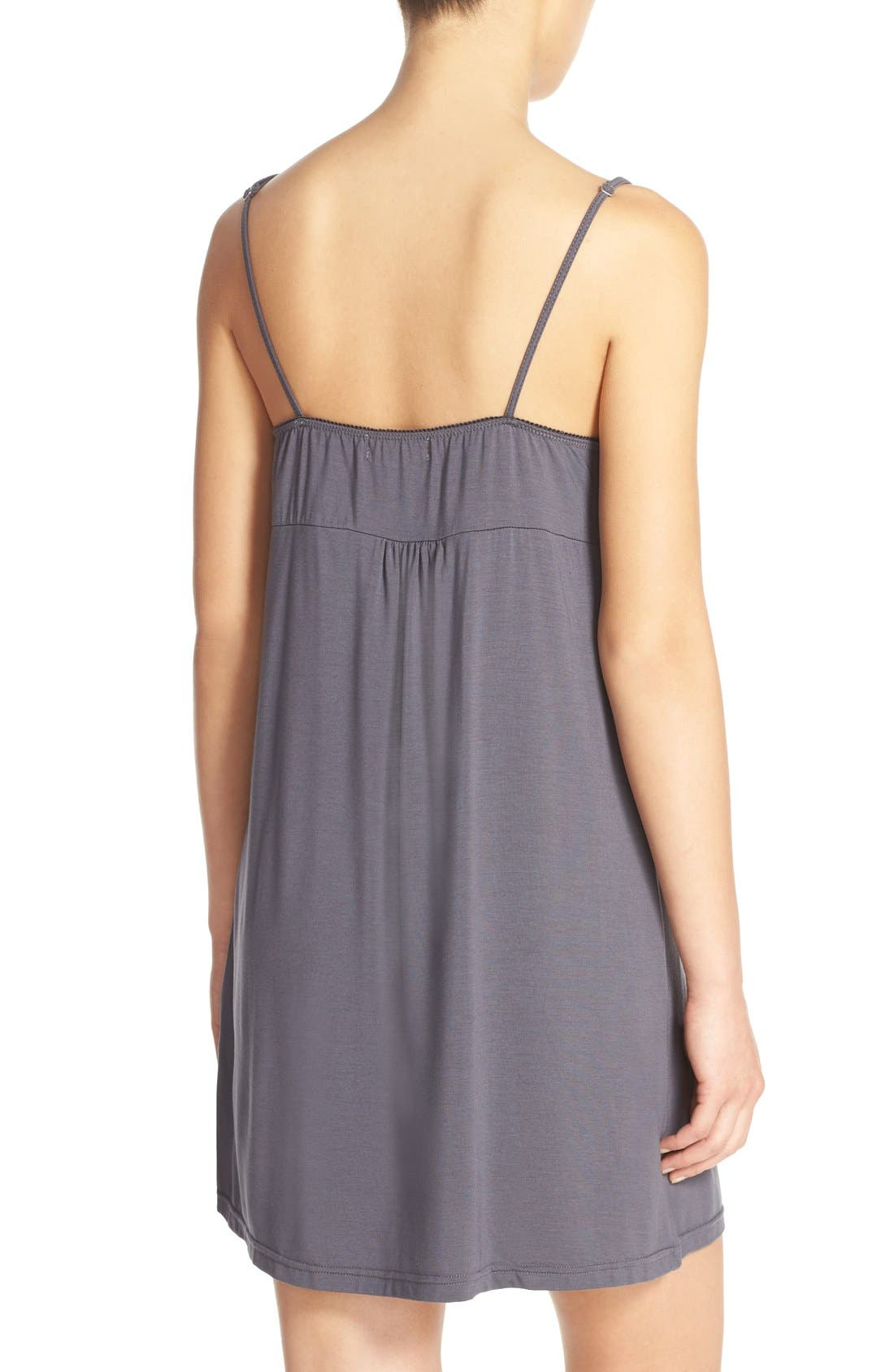 Luxe Jersey Chemise,                             Alternate thumbnail 2, color,                             020