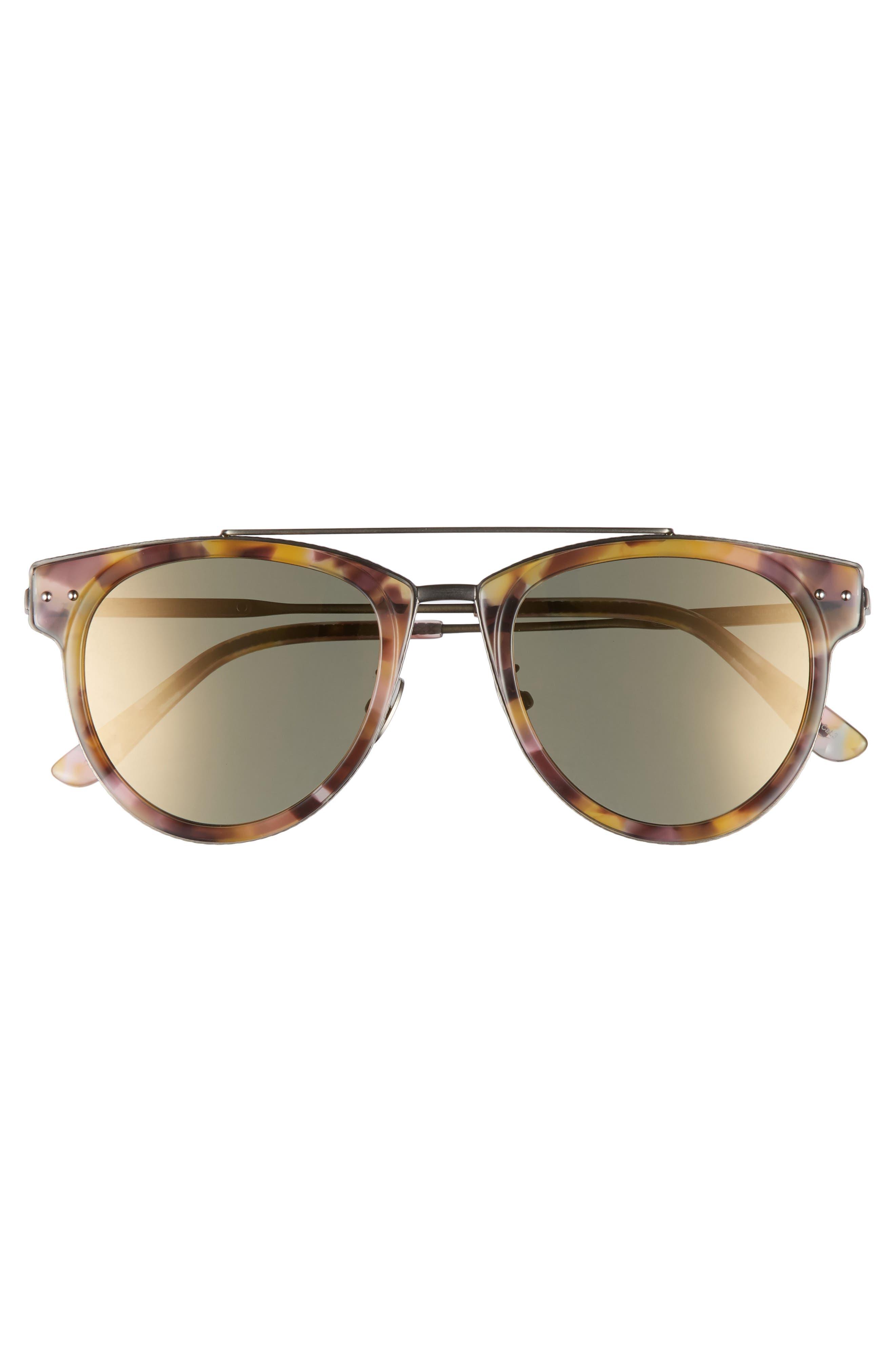50mm Sunglasses,                             Alternate thumbnail 3, color,                             AVANA BROWN
