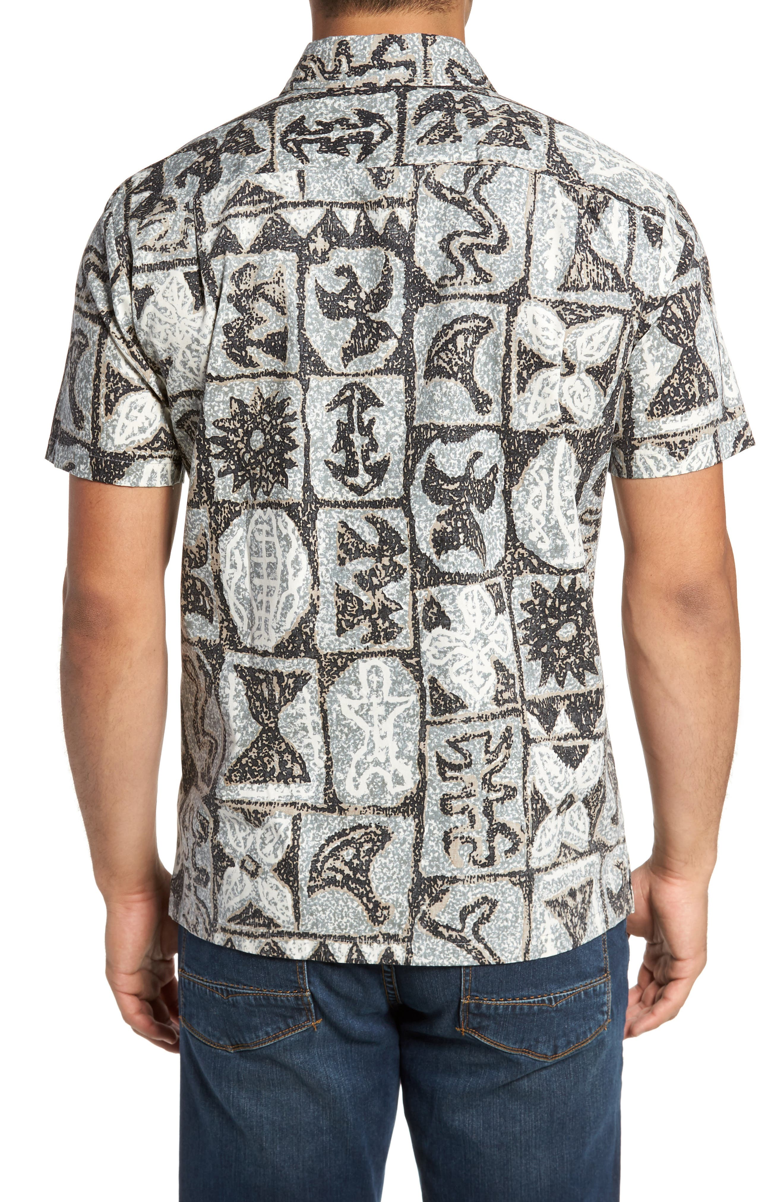 Poi Pounder Trim Fit Print Sport Shirt,                             Alternate thumbnail 2, color,