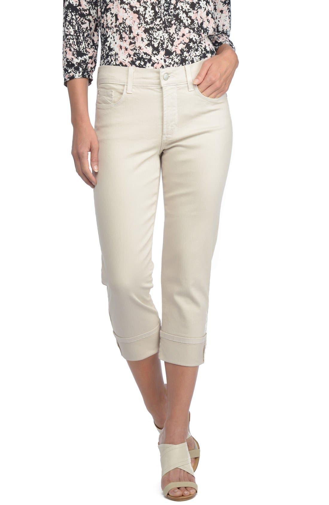 'Dayla' Colored Wide Cuff Capri Jeans,                             Main thumbnail 4, color,