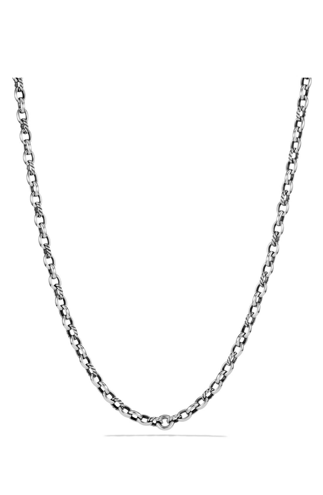 'Chain' Cushion Chain Necklace,                         Main,                         color, SILVER