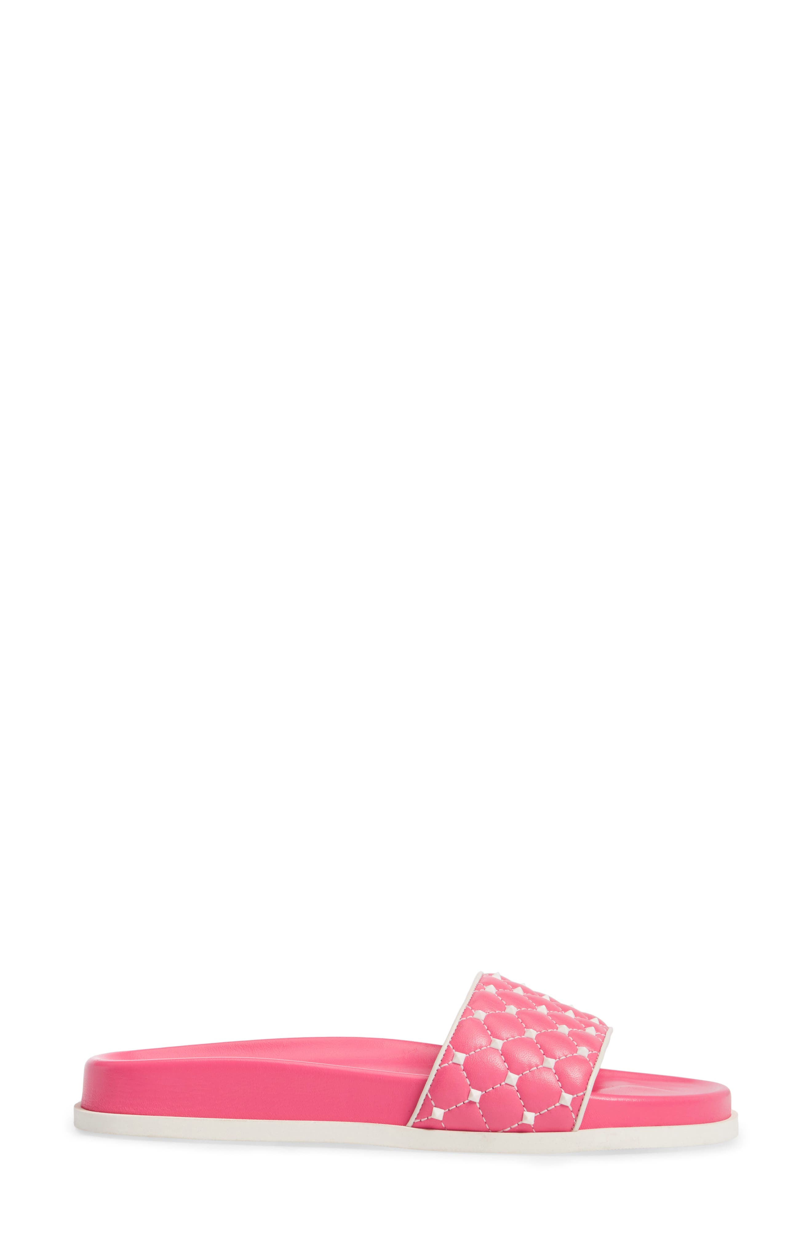 Free Rockstud Slide Sandal,                             Alternate thumbnail 6, color,