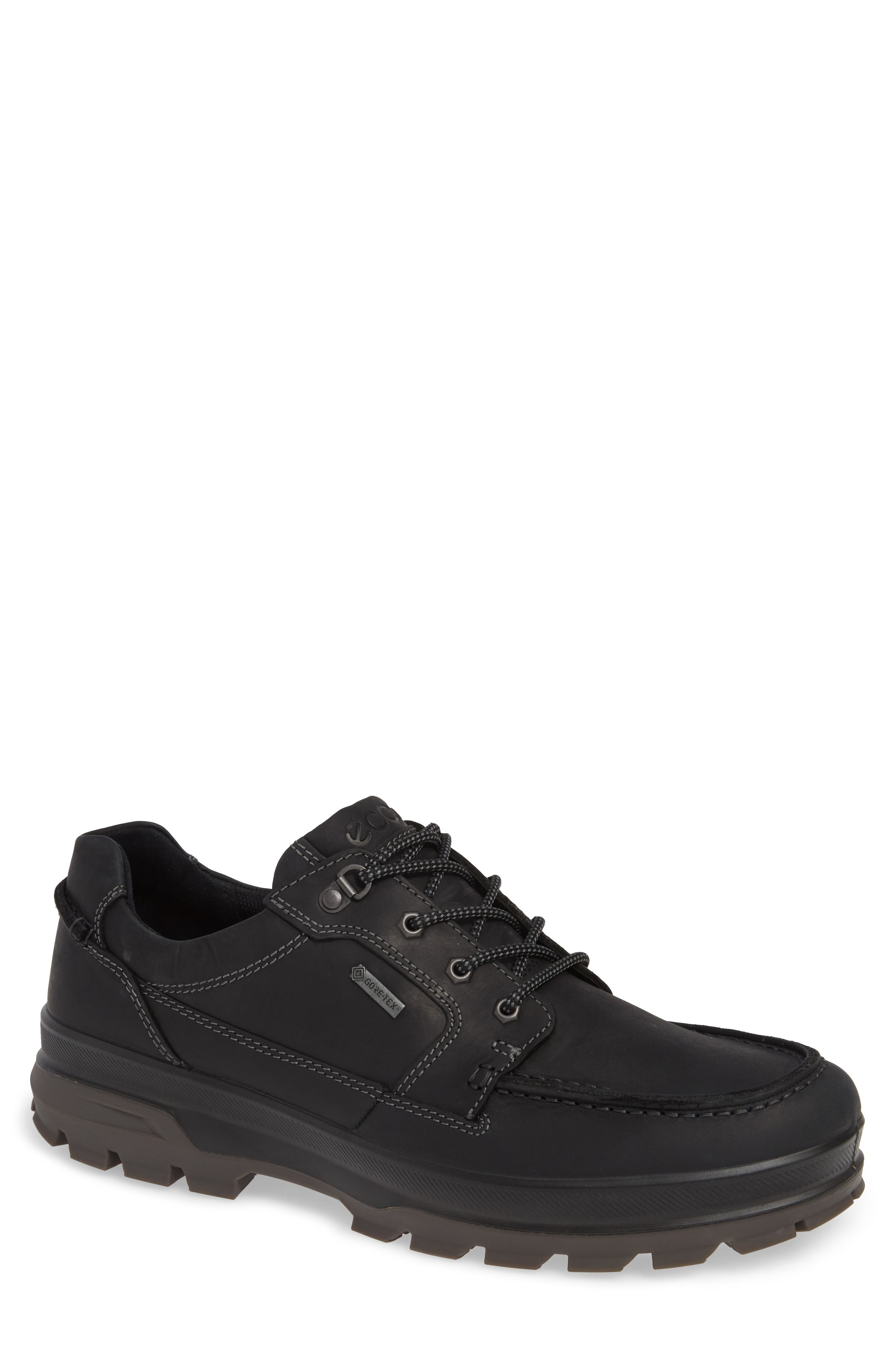 Rugged Track Low Gore-Tex<sup>®</sup> Oxford,                             Main thumbnail 1, color,                             BLACK LEATHER