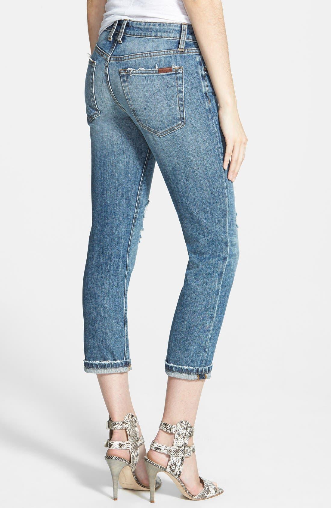 Slim Boyfriend Crop Jeans,                             Alternate thumbnail 3, color,                             400