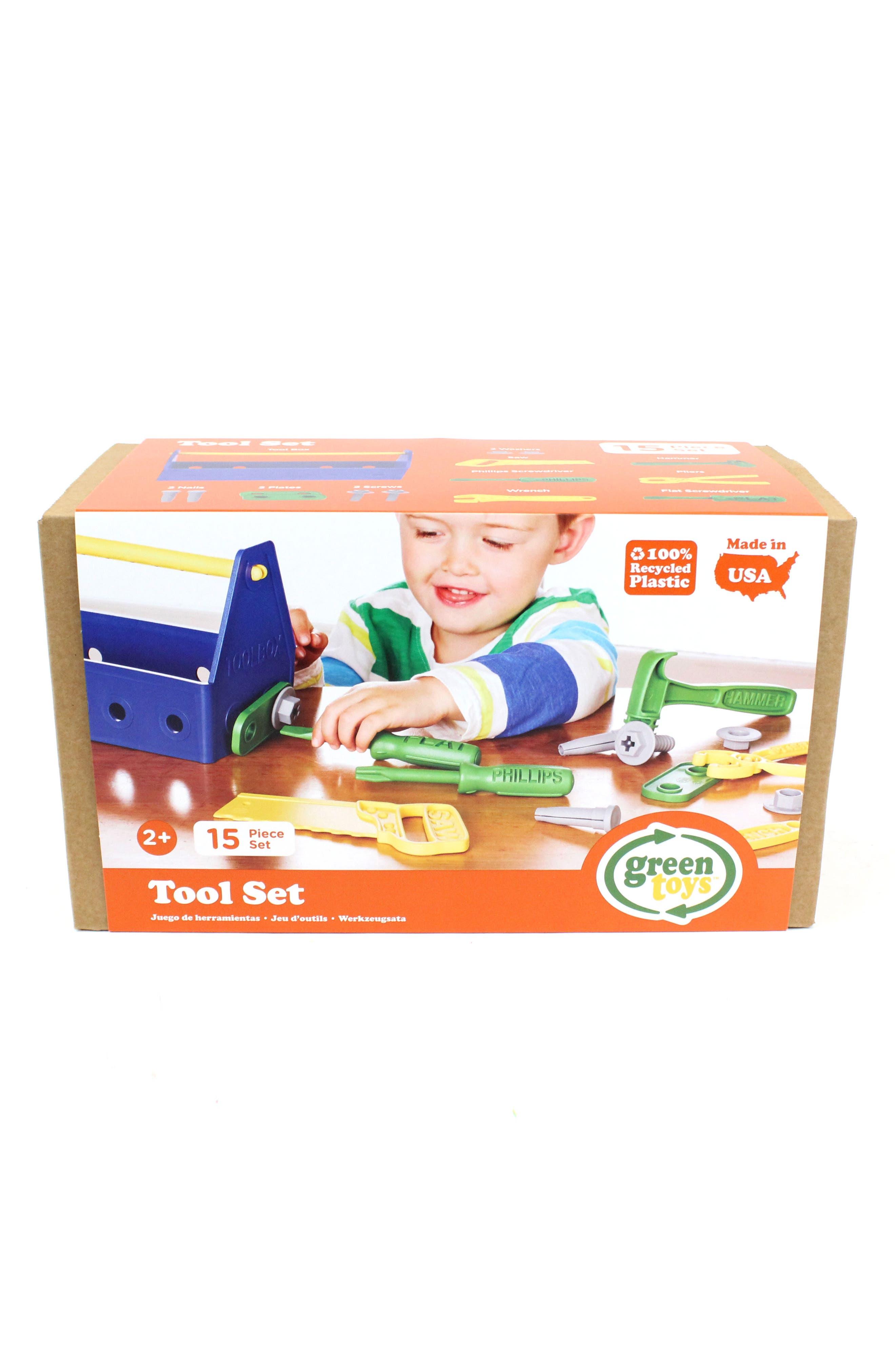 15-Piece Plastic Tool Set,                             Main thumbnail 1, color,