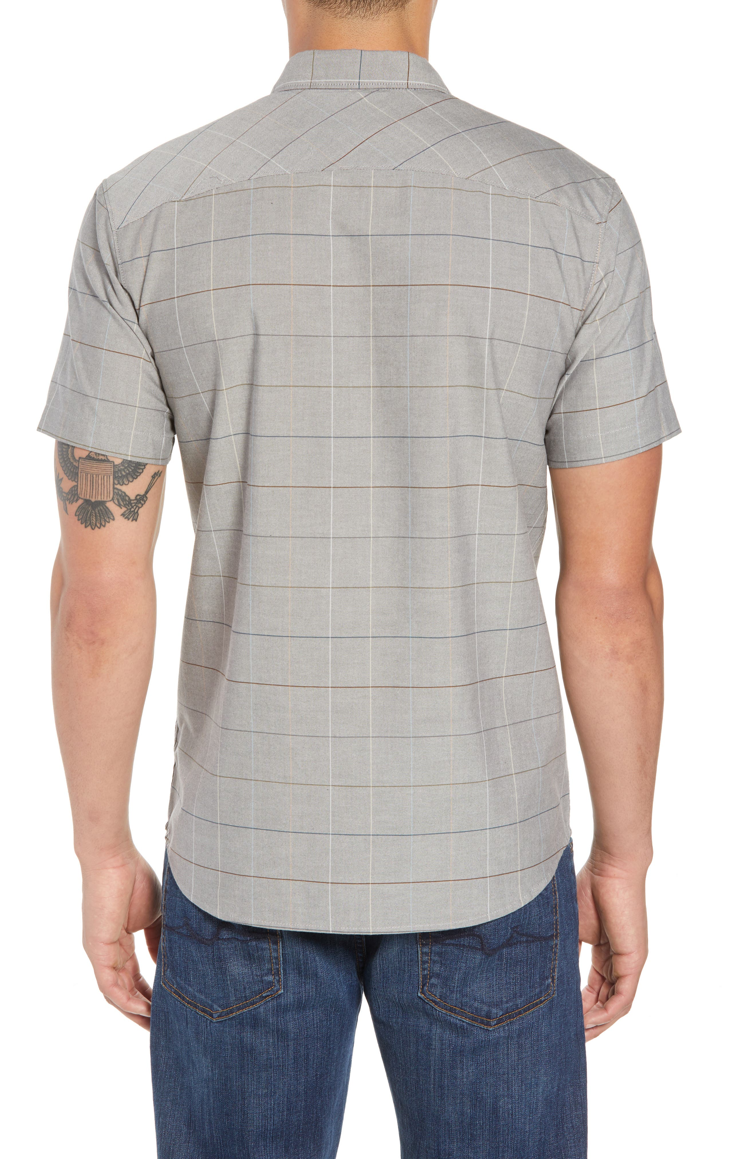 Gridlock Check Woven Shirt,                             Alternate thumbnail 2, color,                             020