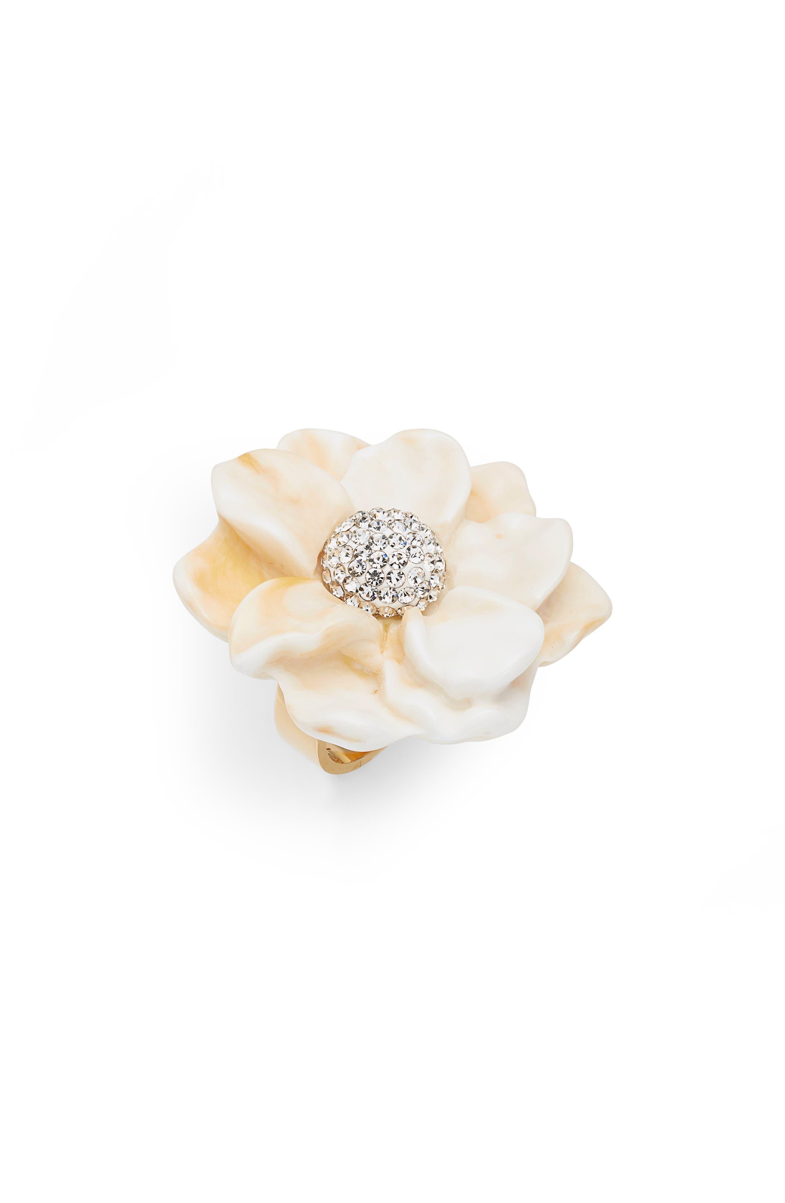 Gardenia Ring,                             Main thumbnail 1, color,                             IVORY