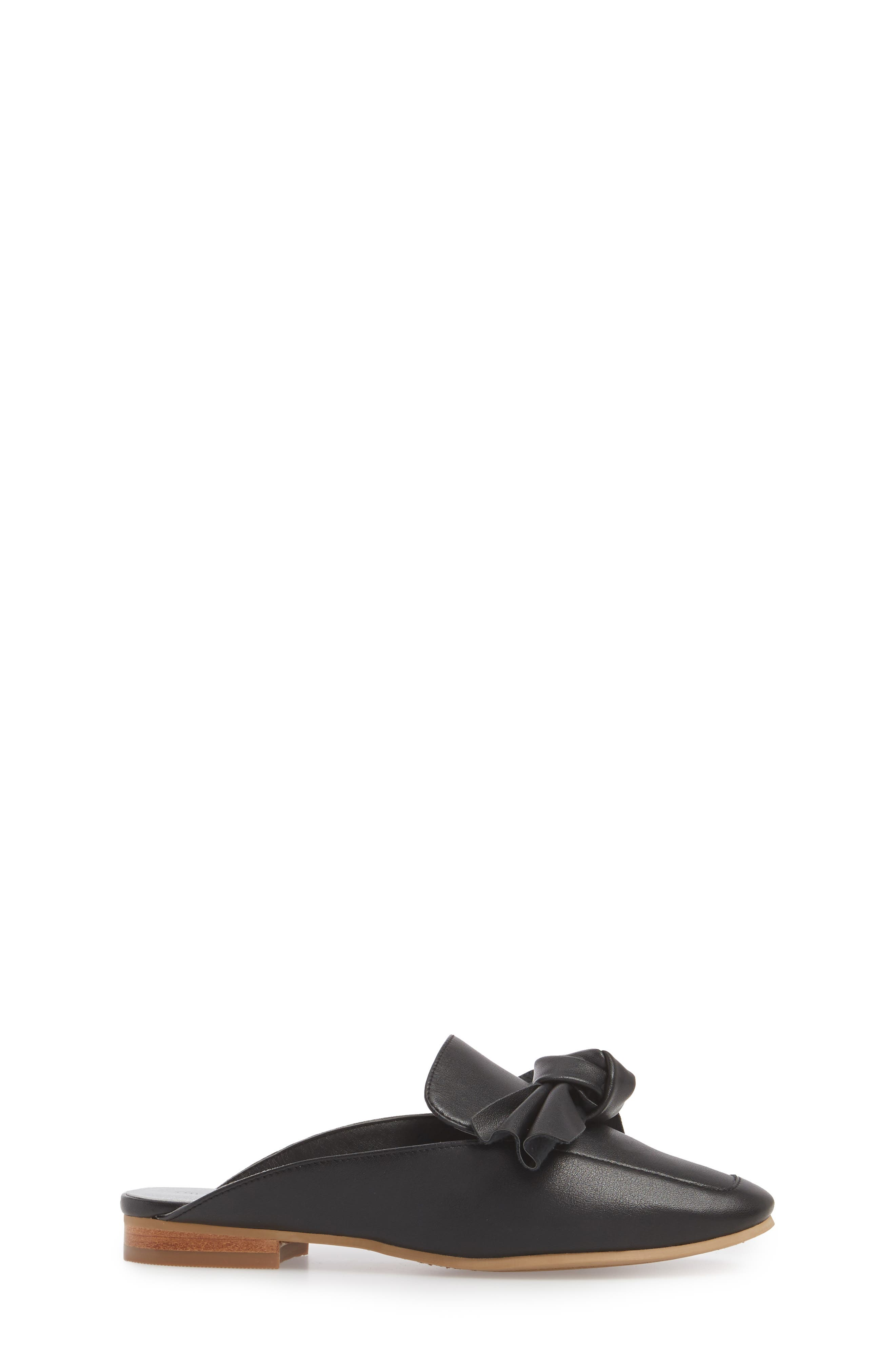 Gina Knotted Loafer Mule,                             Alternate thumbnail 3, color,                             001