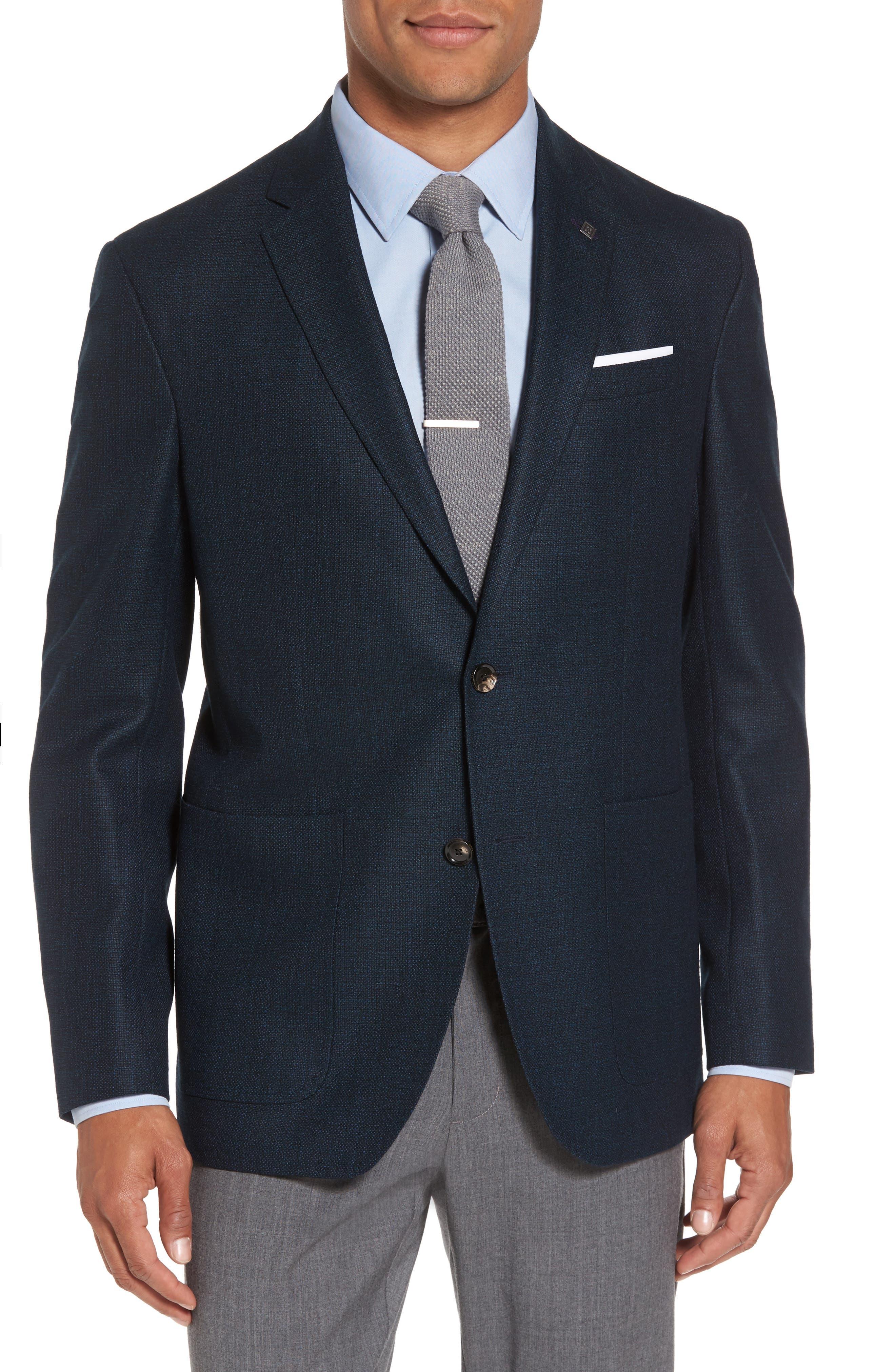 Kyle Trim Fit Check Wool Sport Coat,                         Main,                         color, 475