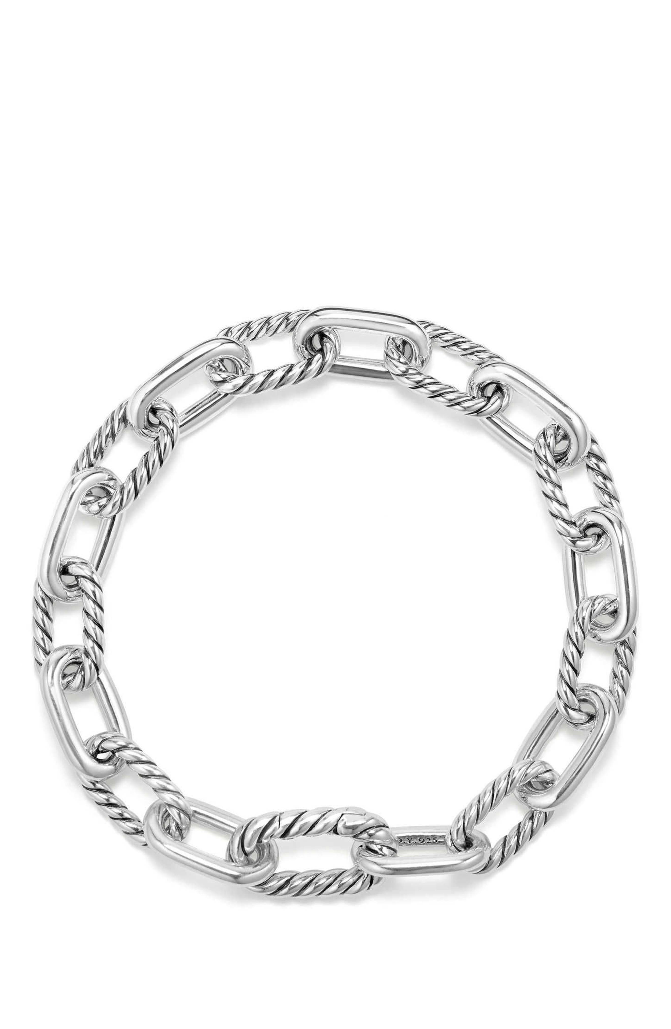 DY Madison Chain Small Bracelet,                             Alternate thumbnail 2, color,                             SILVER