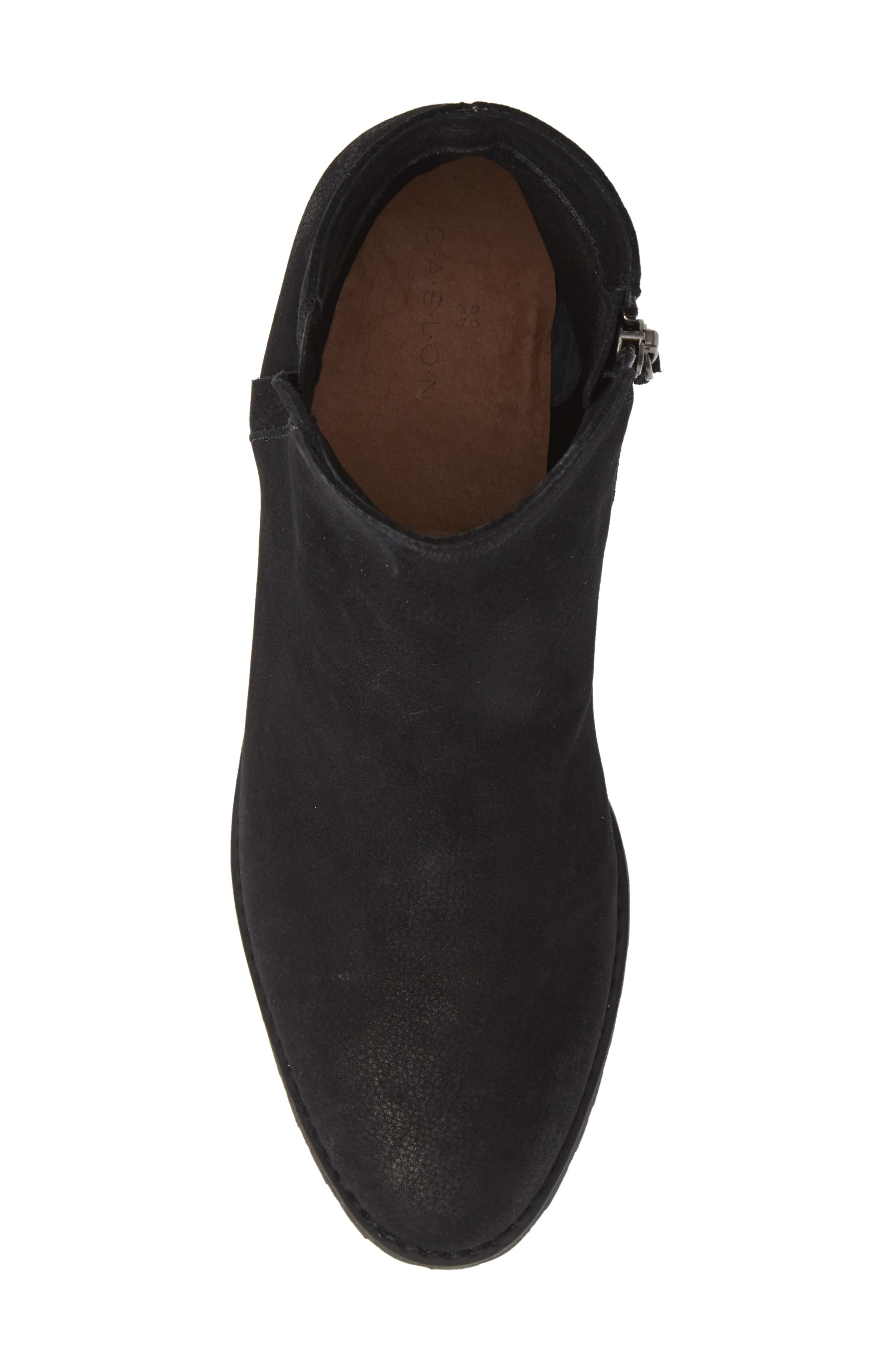 Ollie Water Resistant Bootie,                             Alternate thumbnail 5, color,                             BLACK OILED NUBUCK