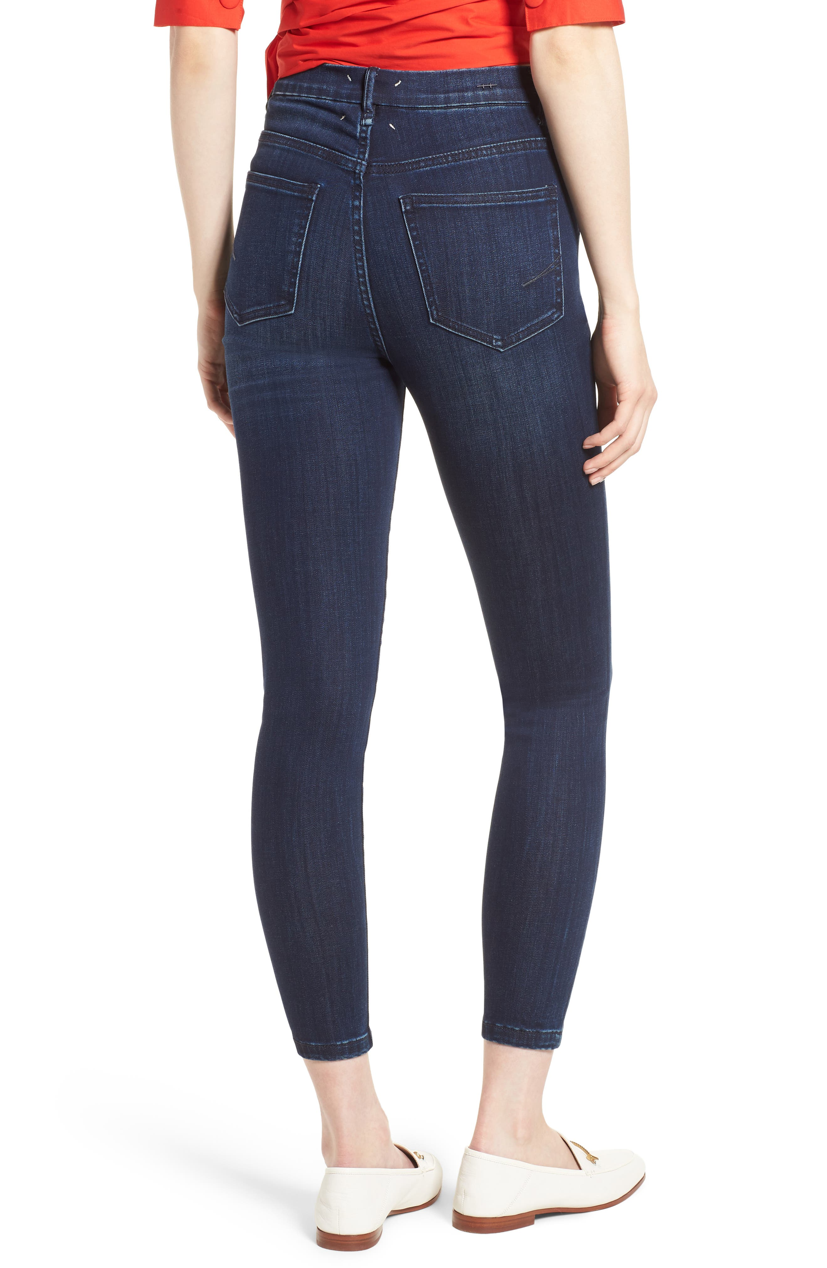 Cressa High Rise Ankle Skinny Jeans,                             Alternate thumbnail 2, color,                             SUGAR MAPLE
