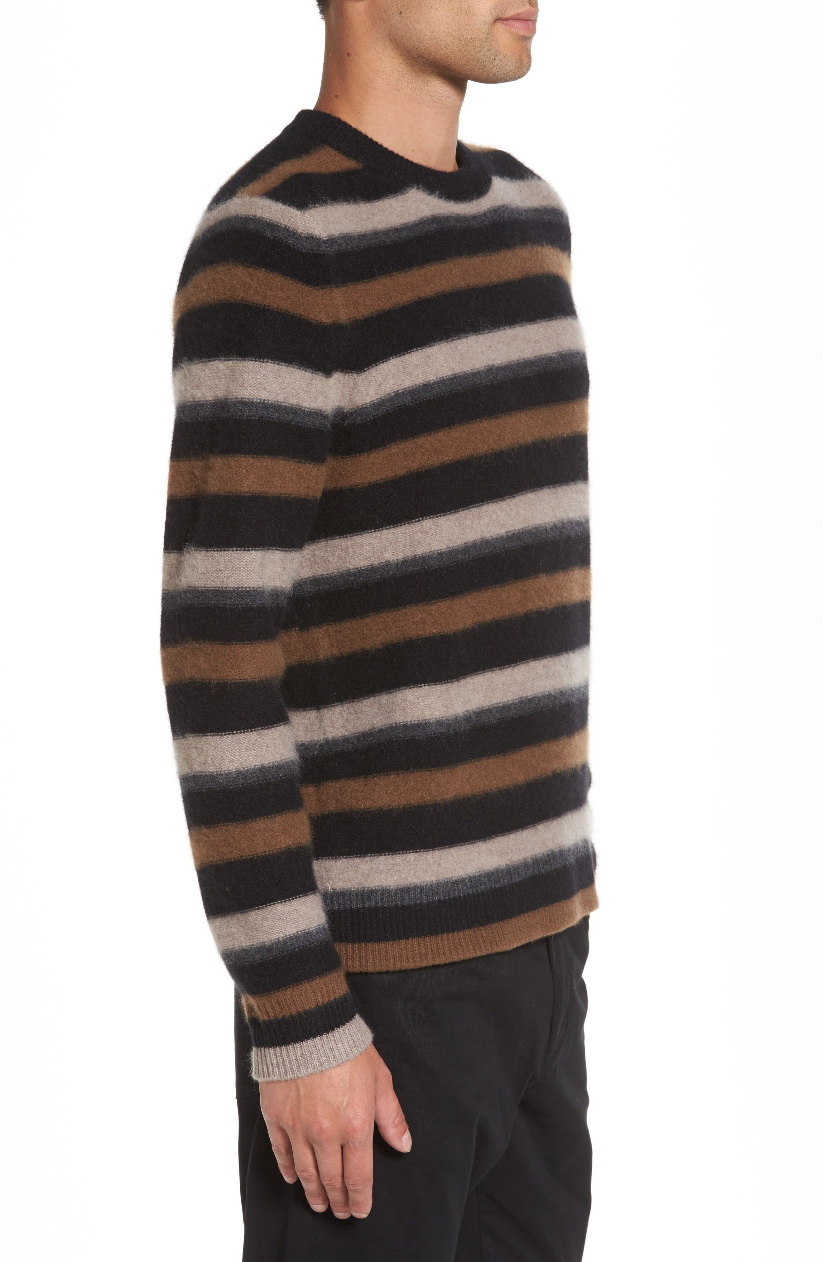 Stripe Cashmere Sweater,                             Alternate thumbnail 3, color,                             003