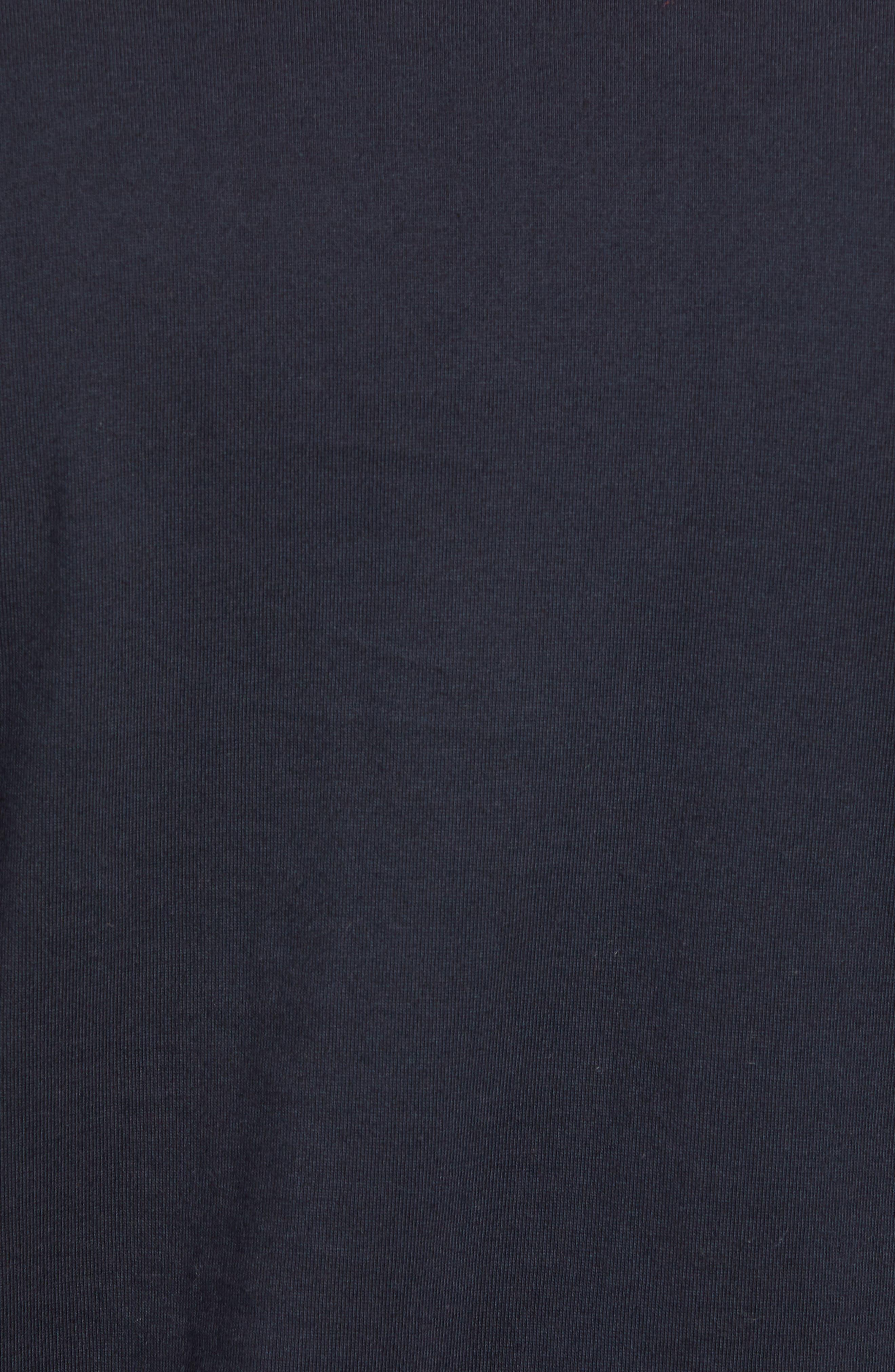 Seamed Pocket T-Shirt,                             Alternate thumbnail 5, color,                             NAVY