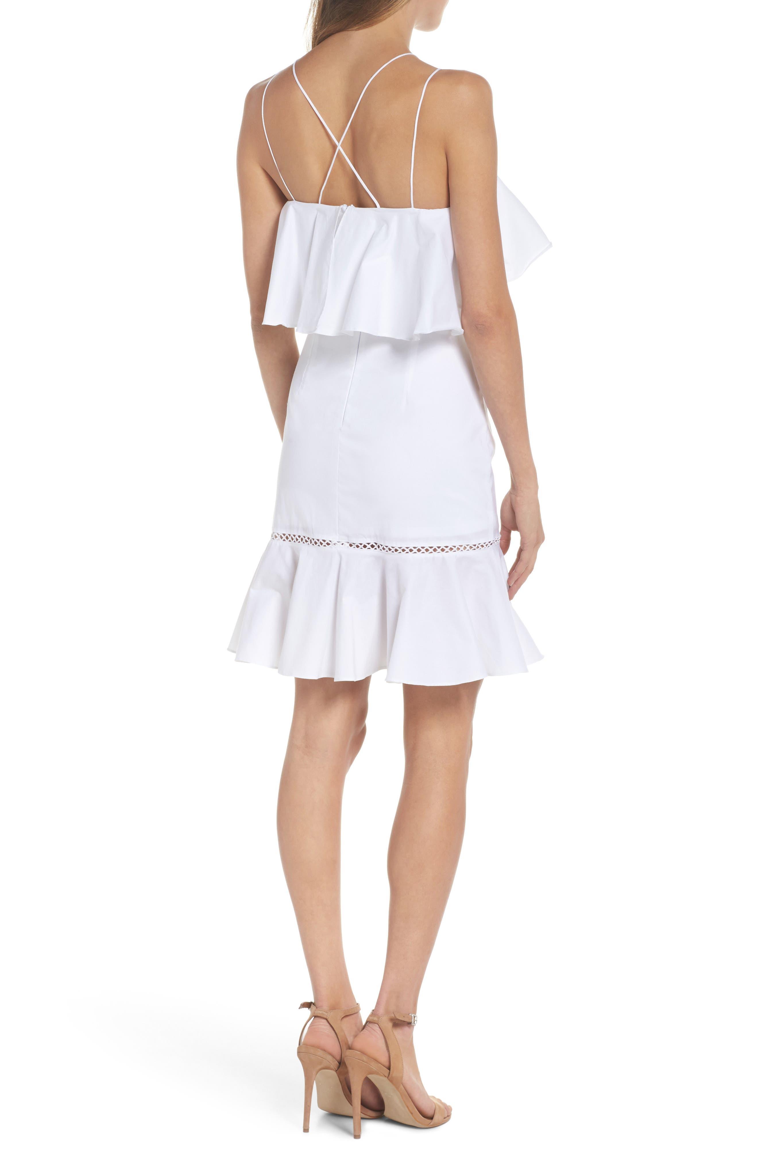 Lola Poplin Ruffle Dress,                             Alternate thumbnail 2, color,                             100