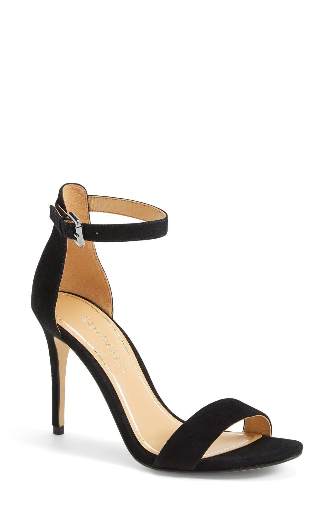 'Manna' Ankle Strap Sandal,                             Main thumbnail 1, color,                             001