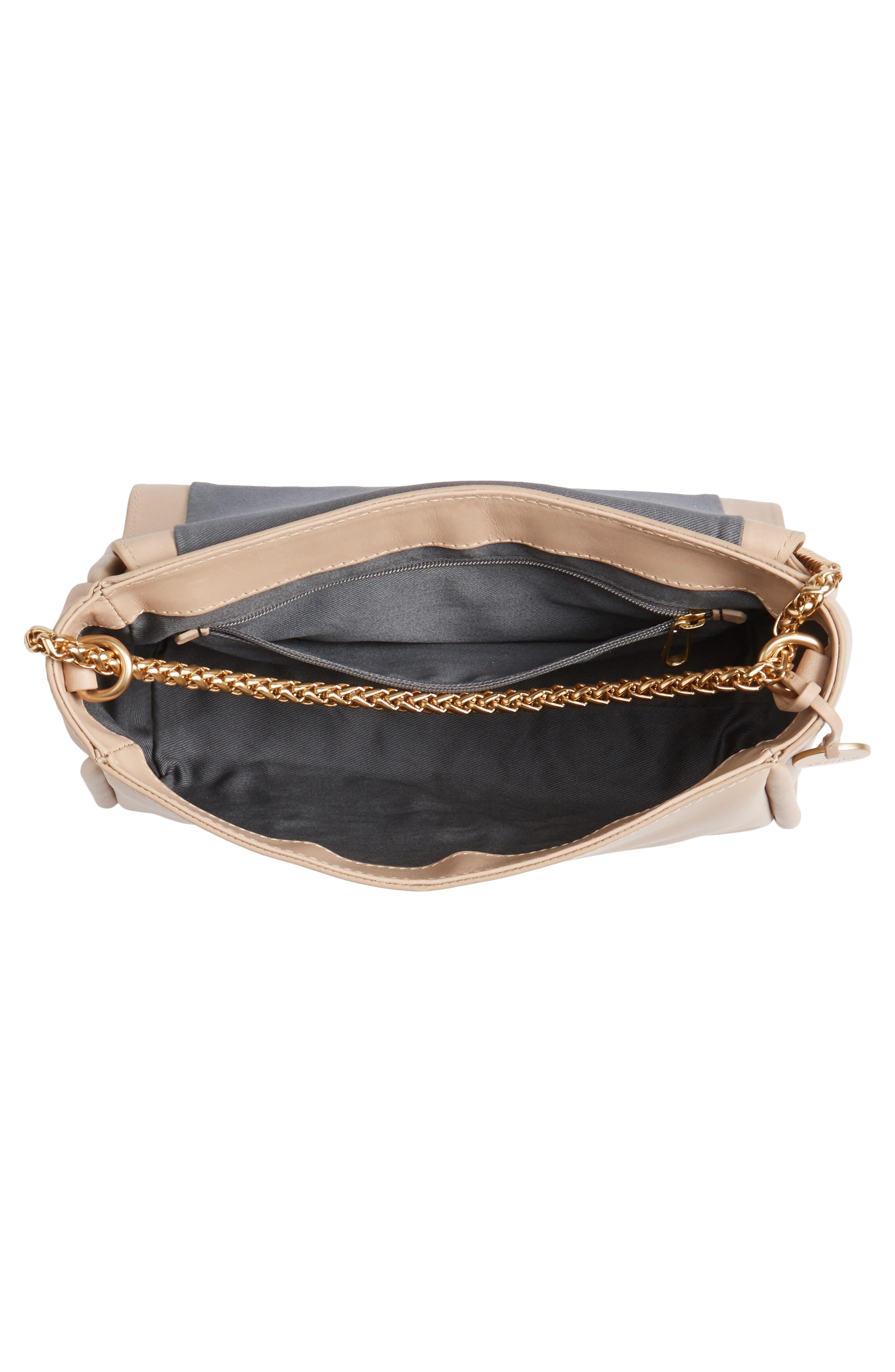 Sylvi Calfskin Leather Crossbody Bag,                             Alternate thumbnail 4, color,                             251