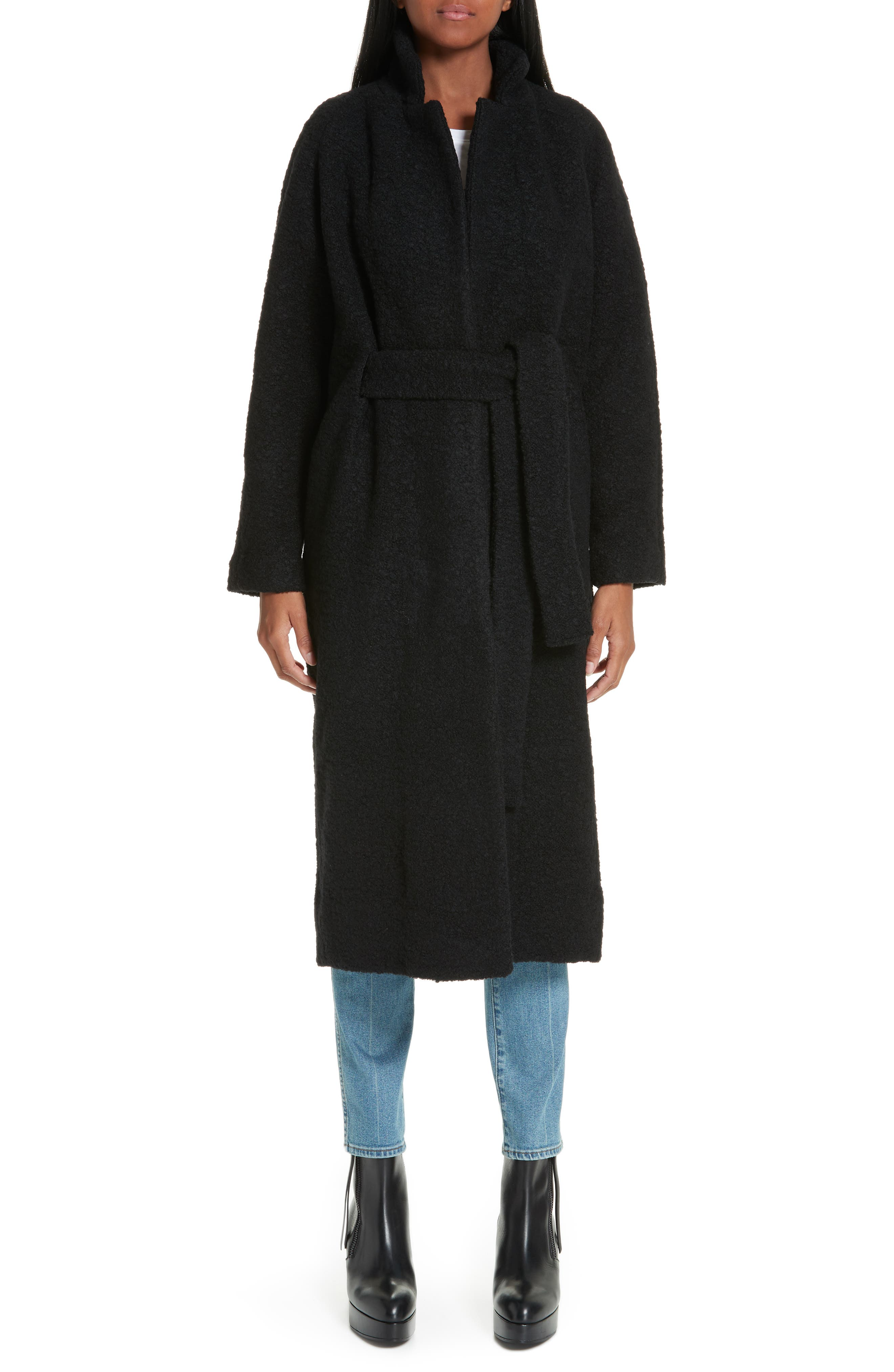 Fenn Belted Wool Blend Coat,                             Main thumbnail 1, color,                             001