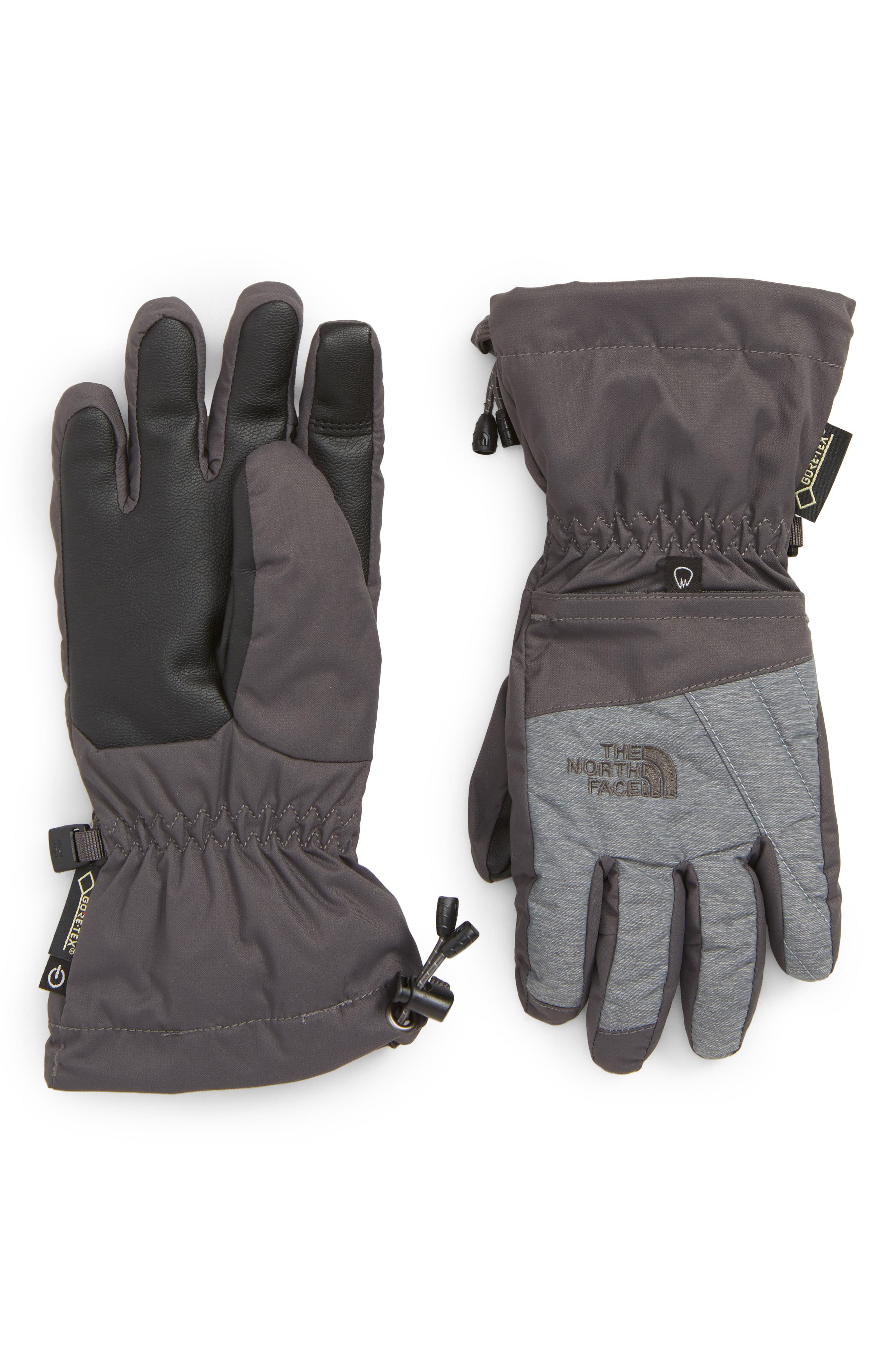 Montana Gore-Tex<sup>®</sup> Waterproof Gloves,                             Main thumbnail 1, color,                             GRAPHITE MED GREY HEATHER