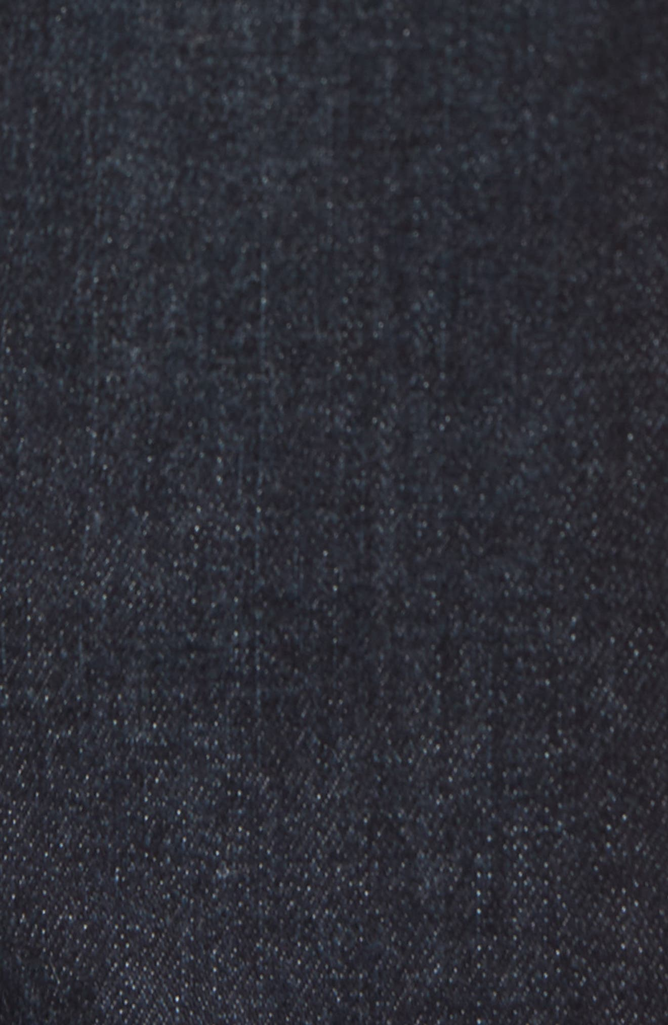 WIT & WISDOM,                             High Waist Eyelash Lace Ankle Skimmer Jeans,                             Alternate thumbnail 6, color,                             402