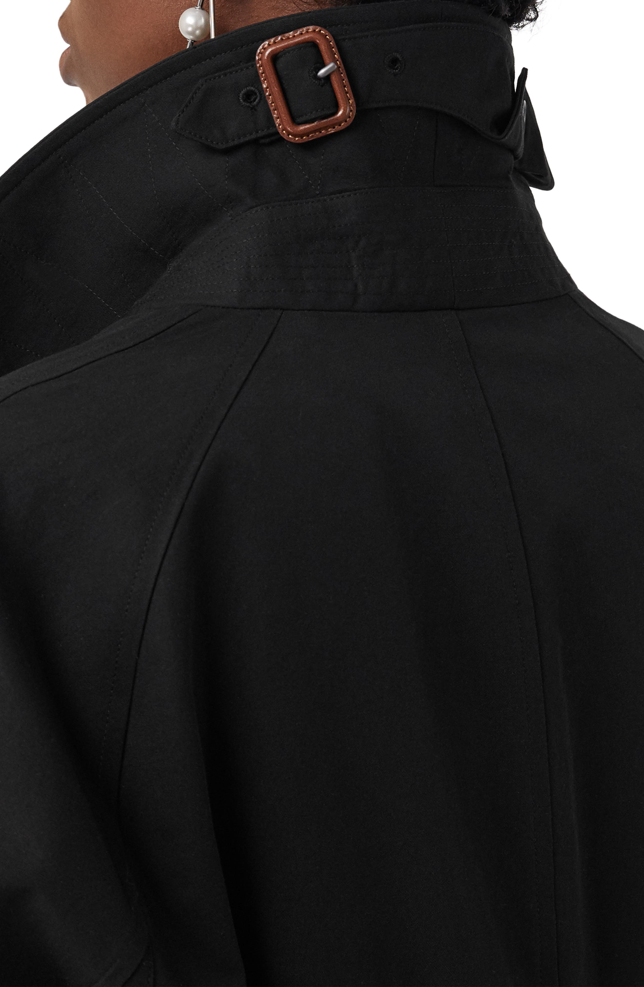 Camden Cotton Car Coat,                             Alternate thumbnail 3, color,                             BLACK