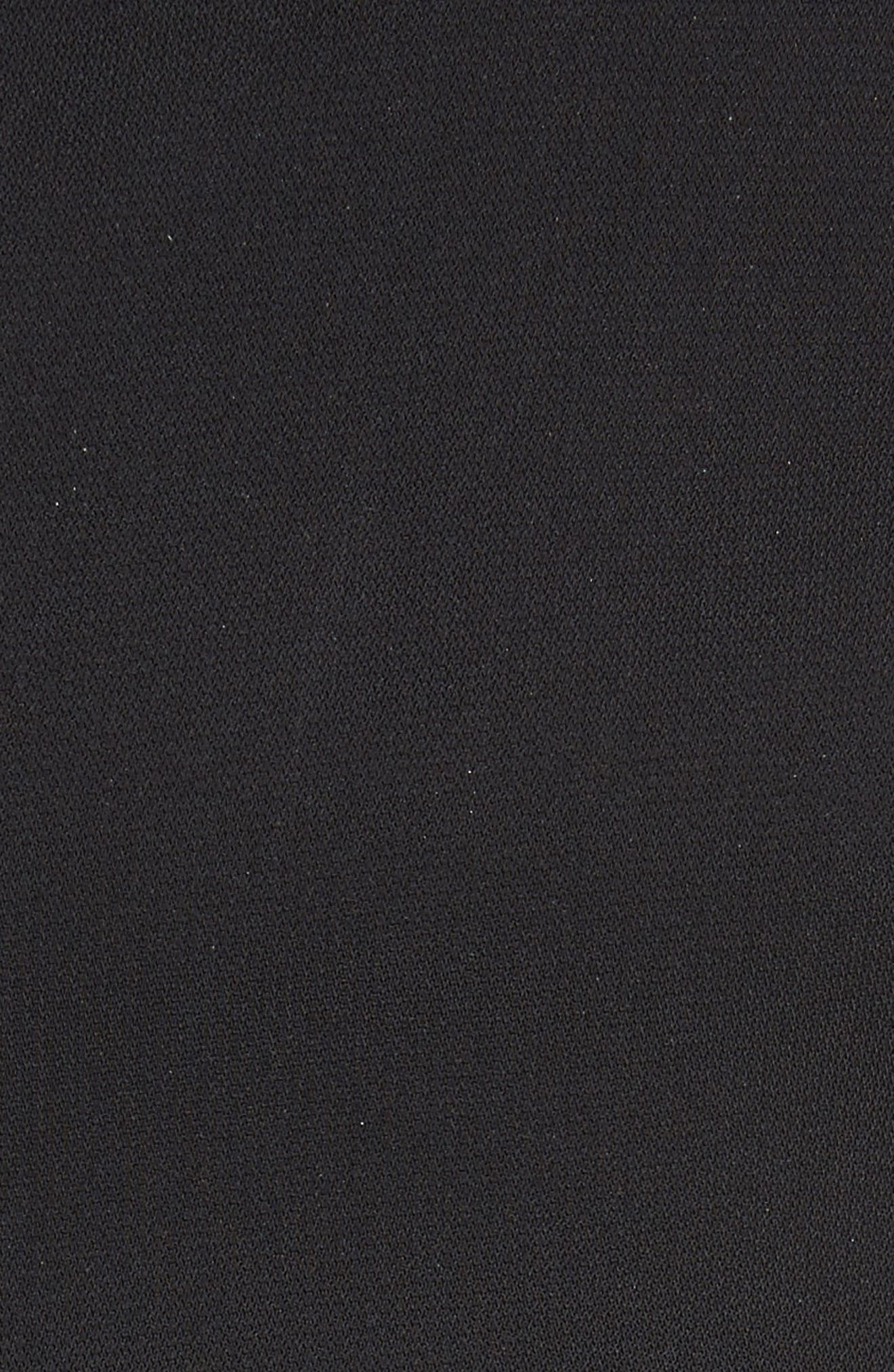 Elettra Ruffle Front Bonded Crepe Halter Dress,                             Alternate thumbnail 5, color,                             006