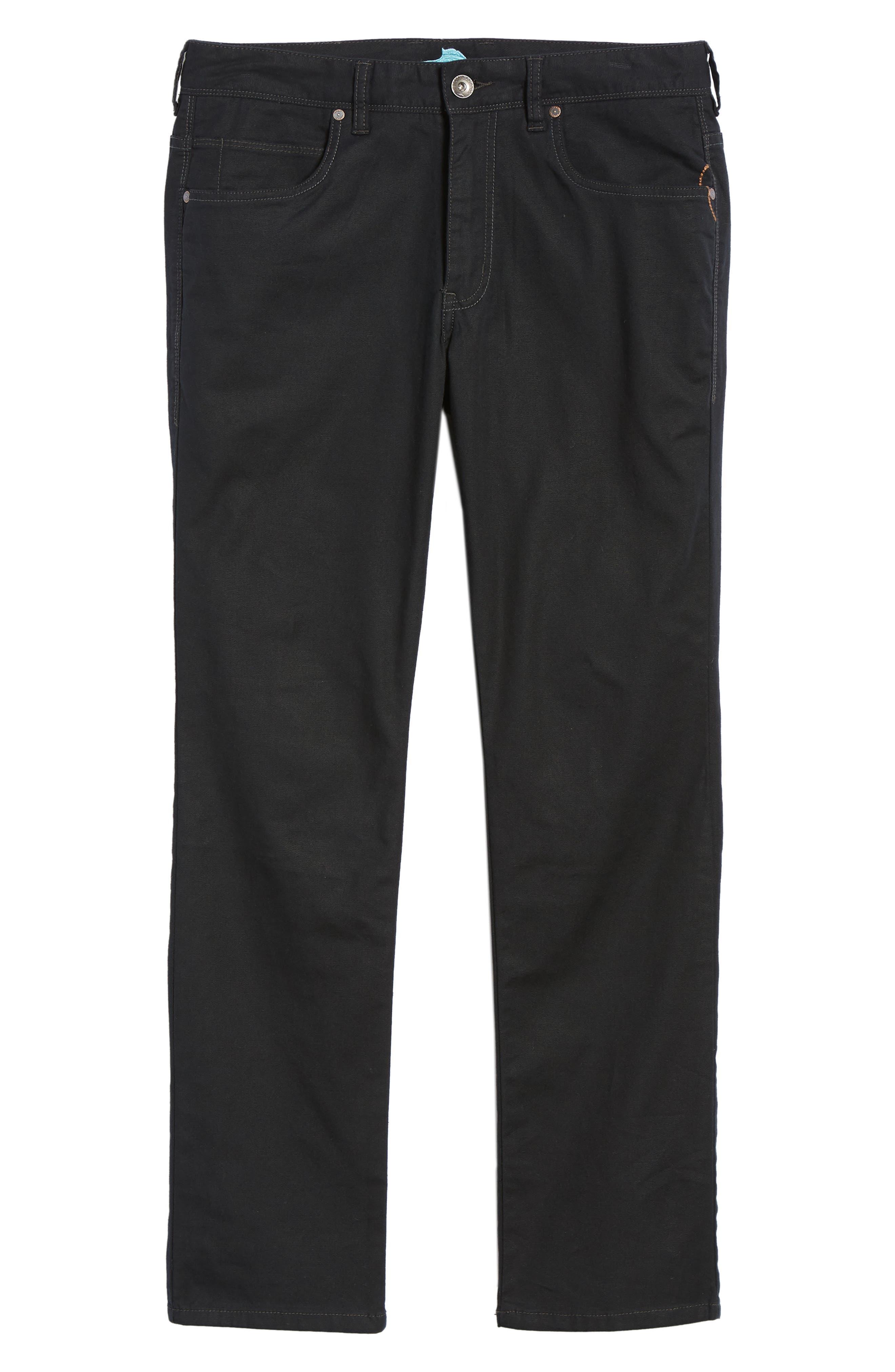Key Isles Regular Fit Pants,                             Alternate thumbnail 6, color,                             BLACK
