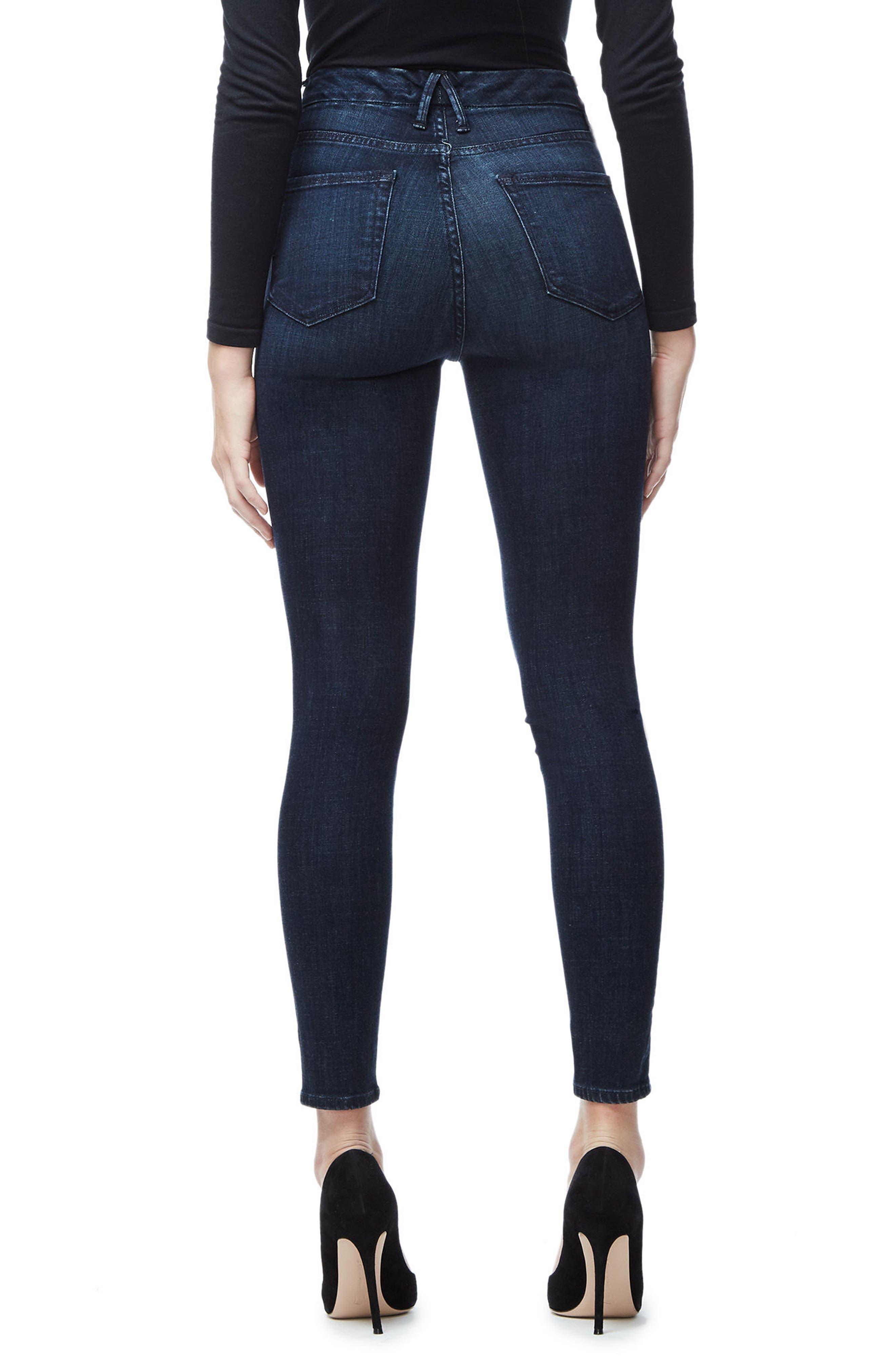 Good Waist High Waist Crop Skinny Jeans,                             Alternate thumbnail 2, color,                             BLUE025