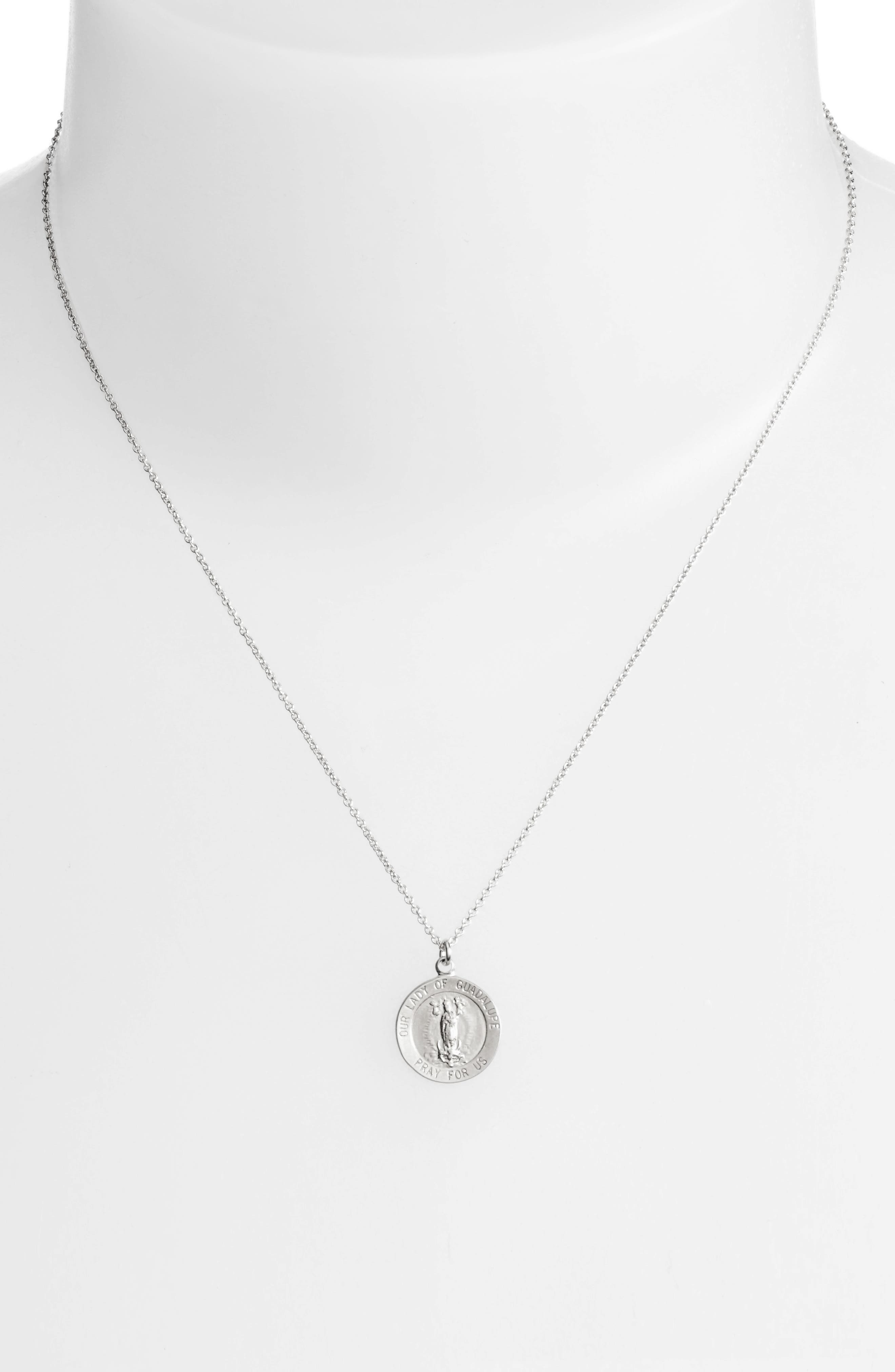 Our Lady of Guadalupe Pendant Necklace,                             Alternate thumbnail 3, color,