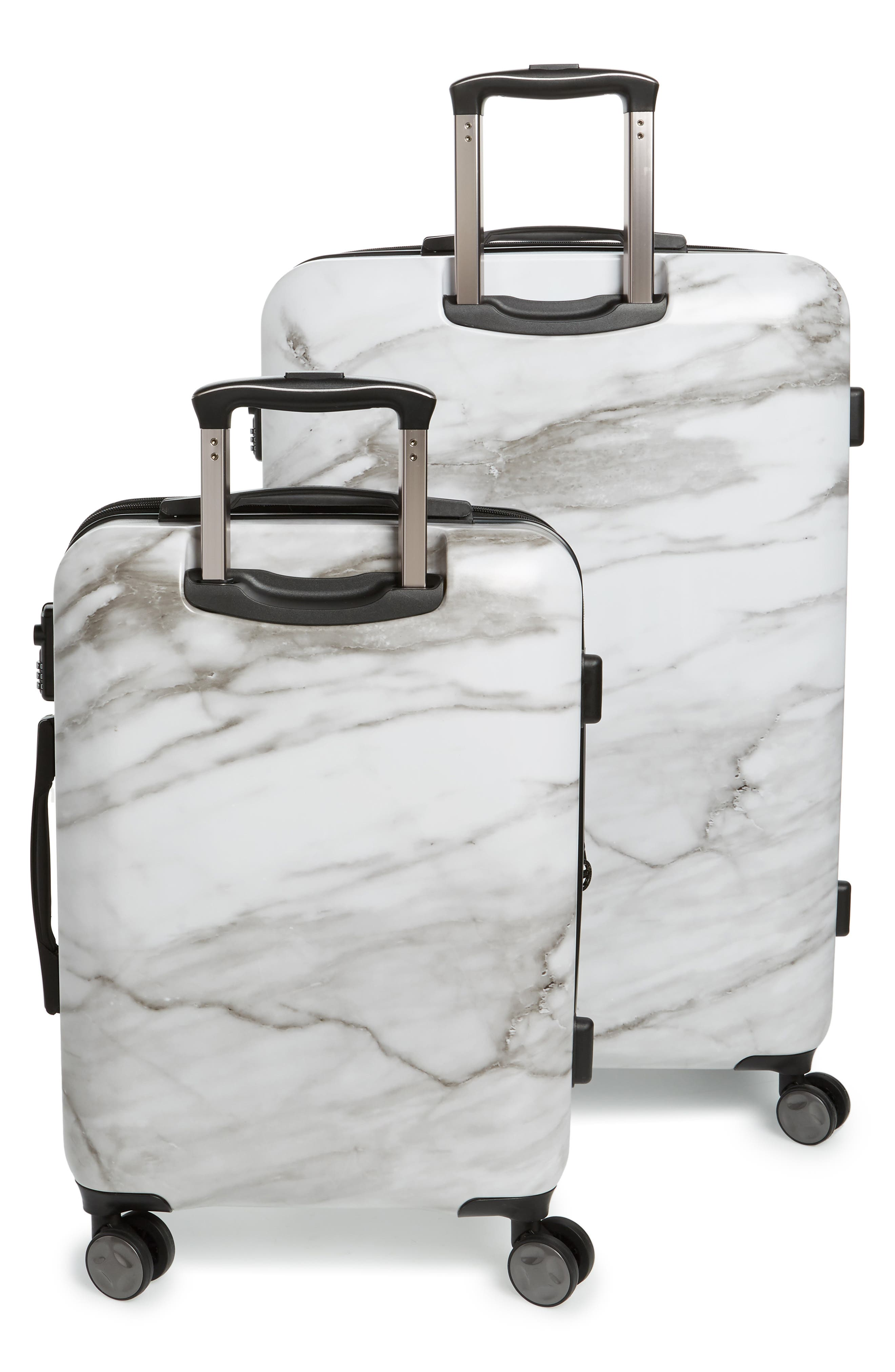 Astyll 22-Inch & 30-Inch Spinner Luggage Set,                             Alternate thumbnail 4, color,                             MILK MARBLE