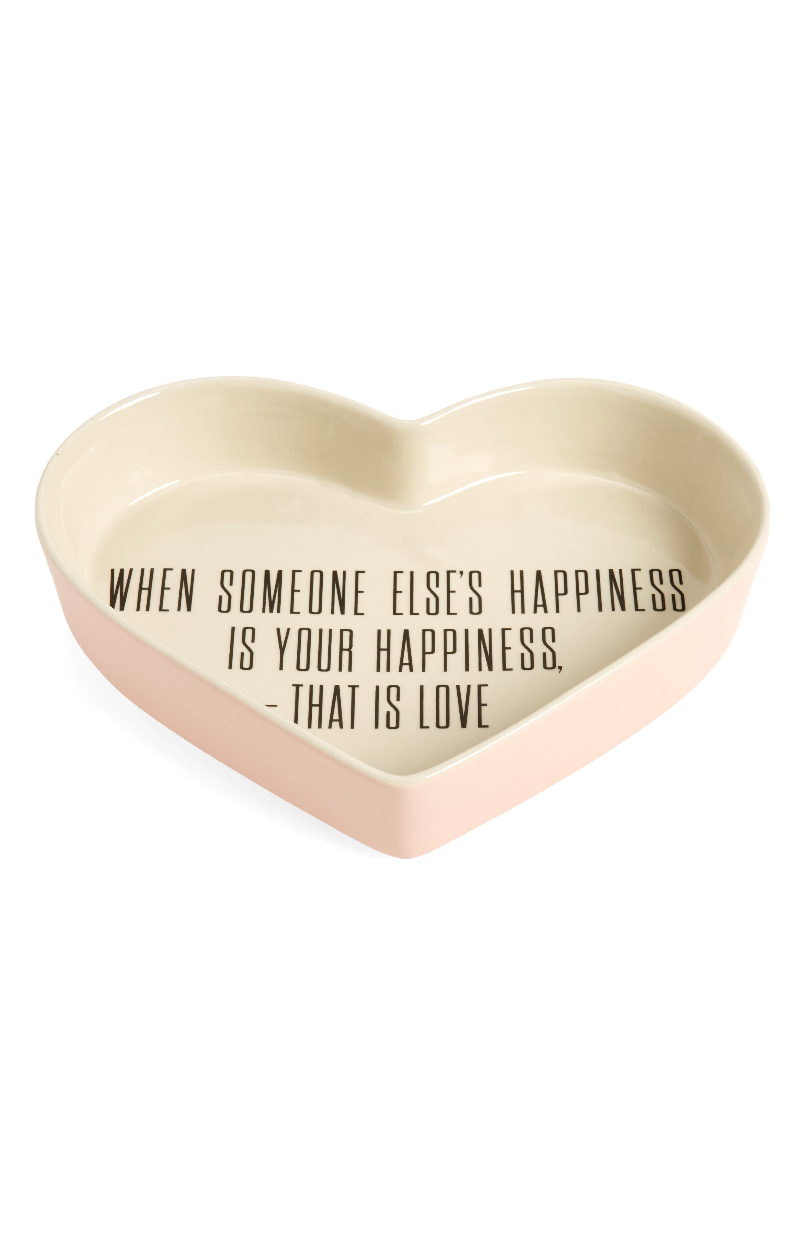 Alberte Heart Shaped Ceramic Tray,                         Main,                         color, 650