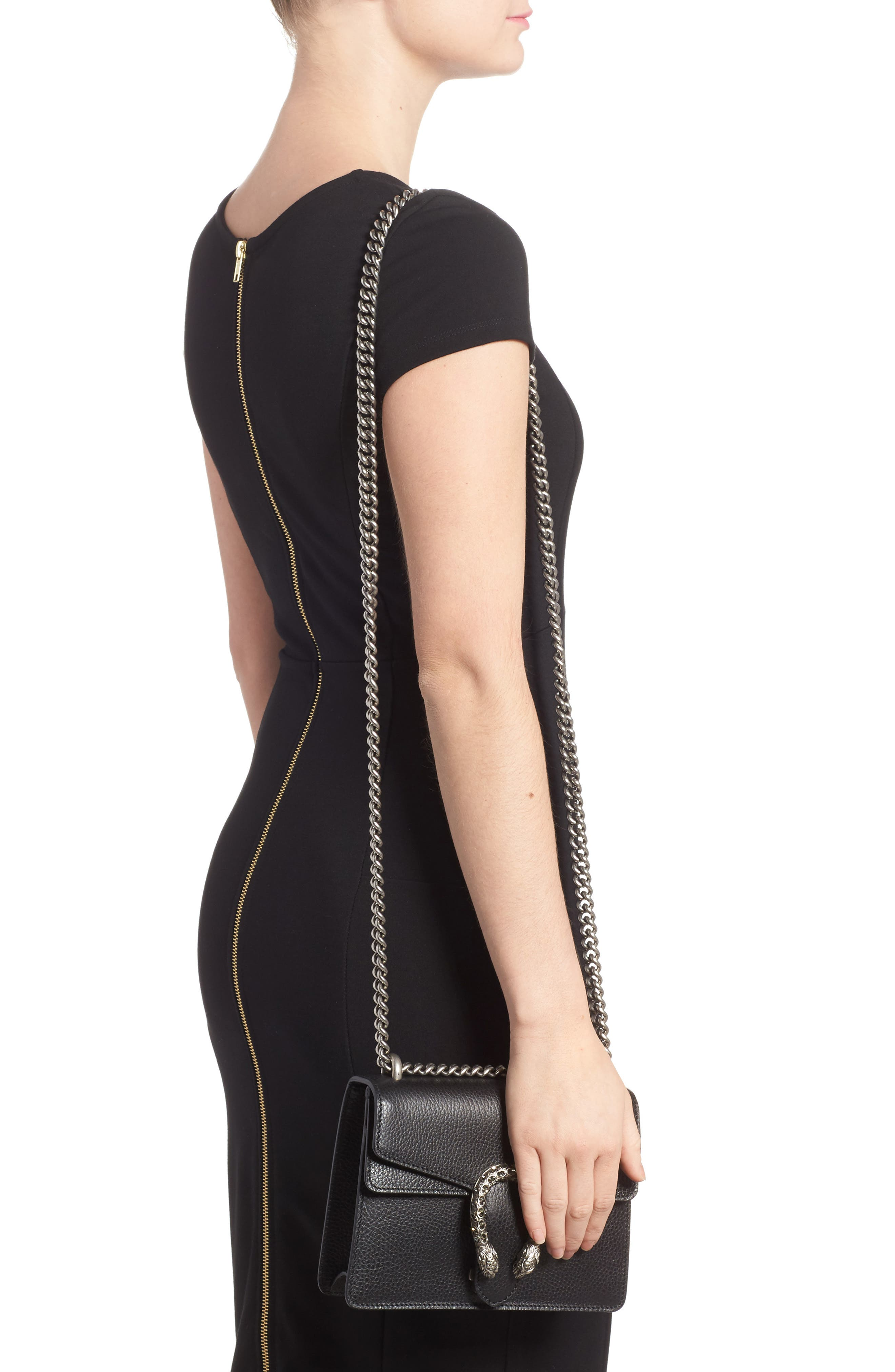 Mini Dionysus Leather Shoulder Bag,                             Alternate thumbnail 2, color,                             NERO/ BLACK DIAMOND
