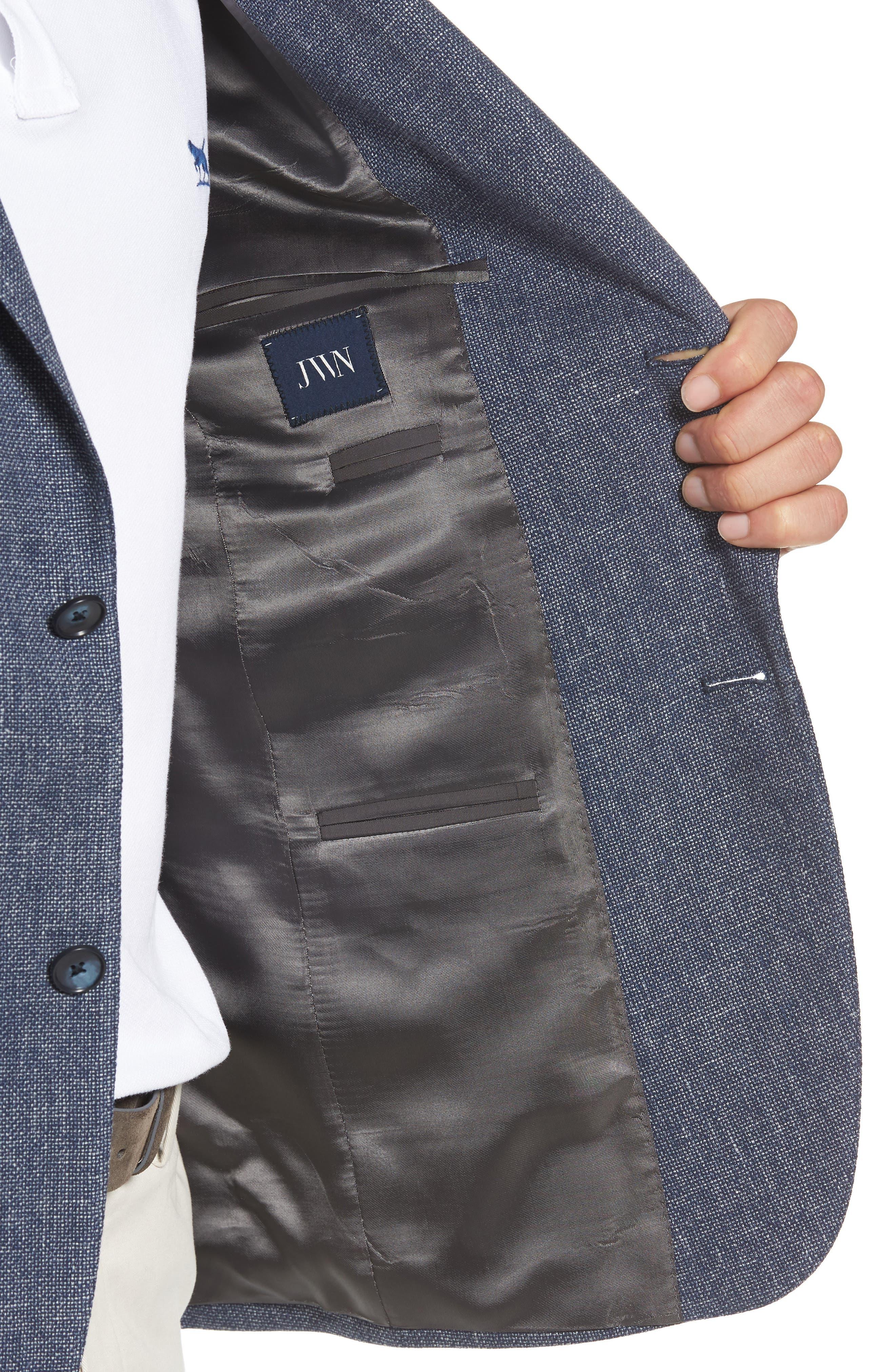 Traditional Fit Mélange Wool & Linen Sport Coat,                             Alternate thumbnail 4, color,