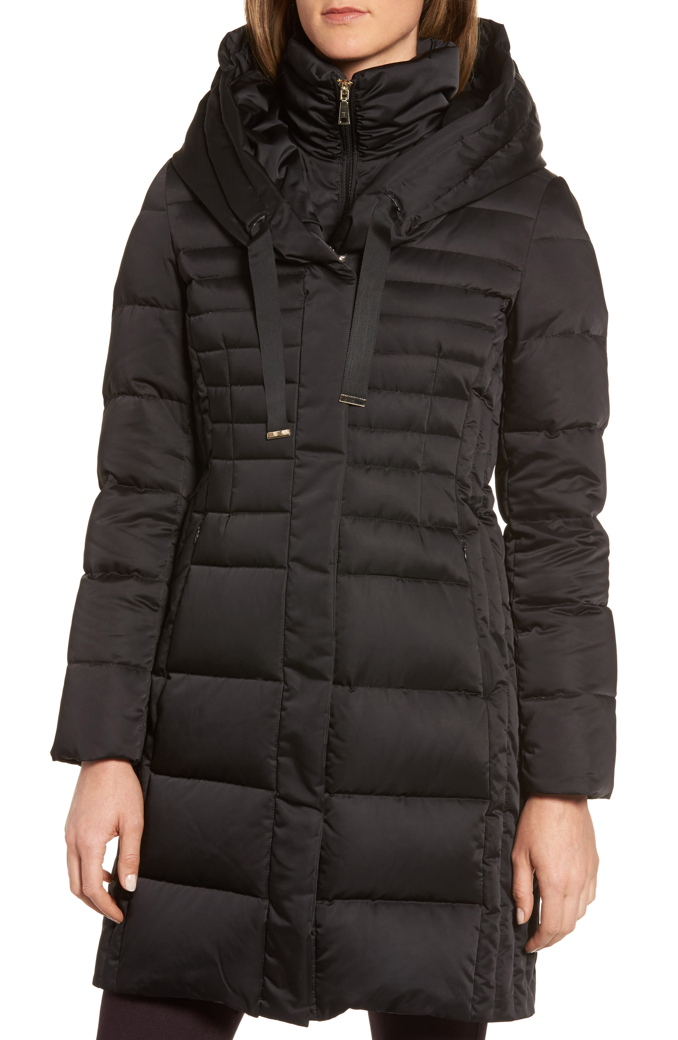 Mia Down & Feather Fill Coat,                             Alternate thumbnail 4, color,                             001
