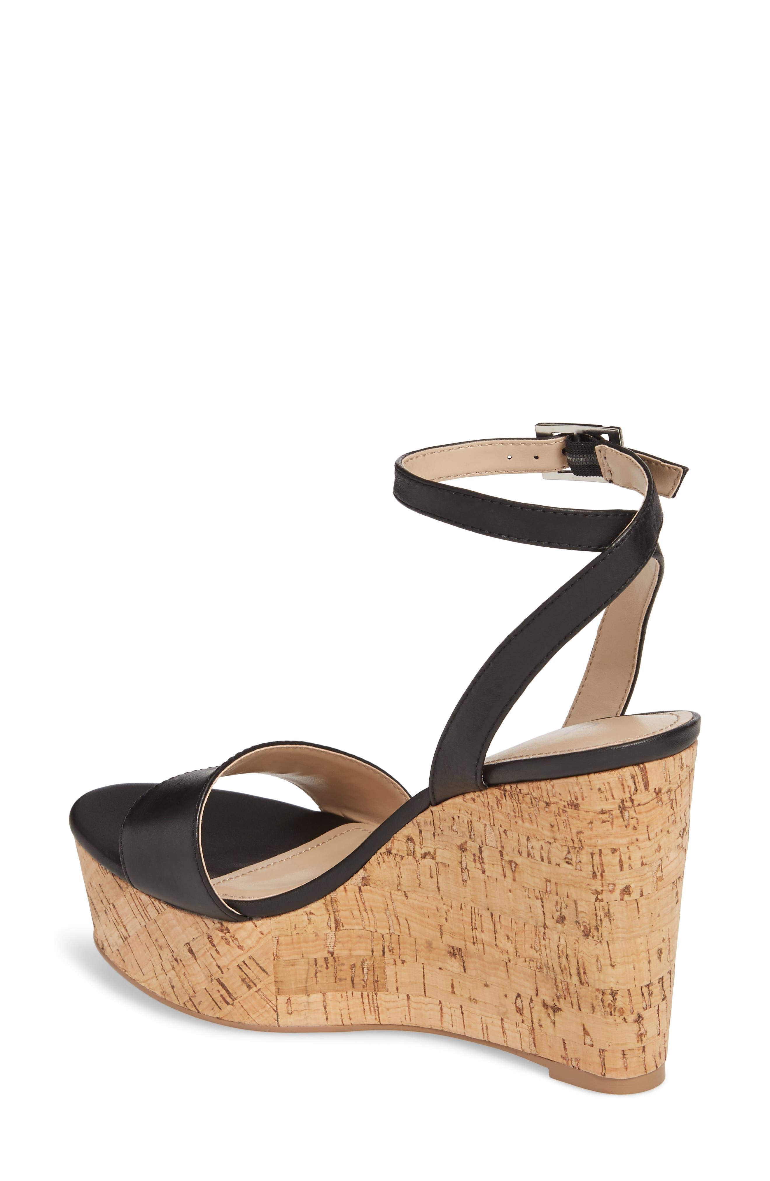 Lilla Platform Wedge Sandal,                             Alternate thumbnail 2, color,                             001