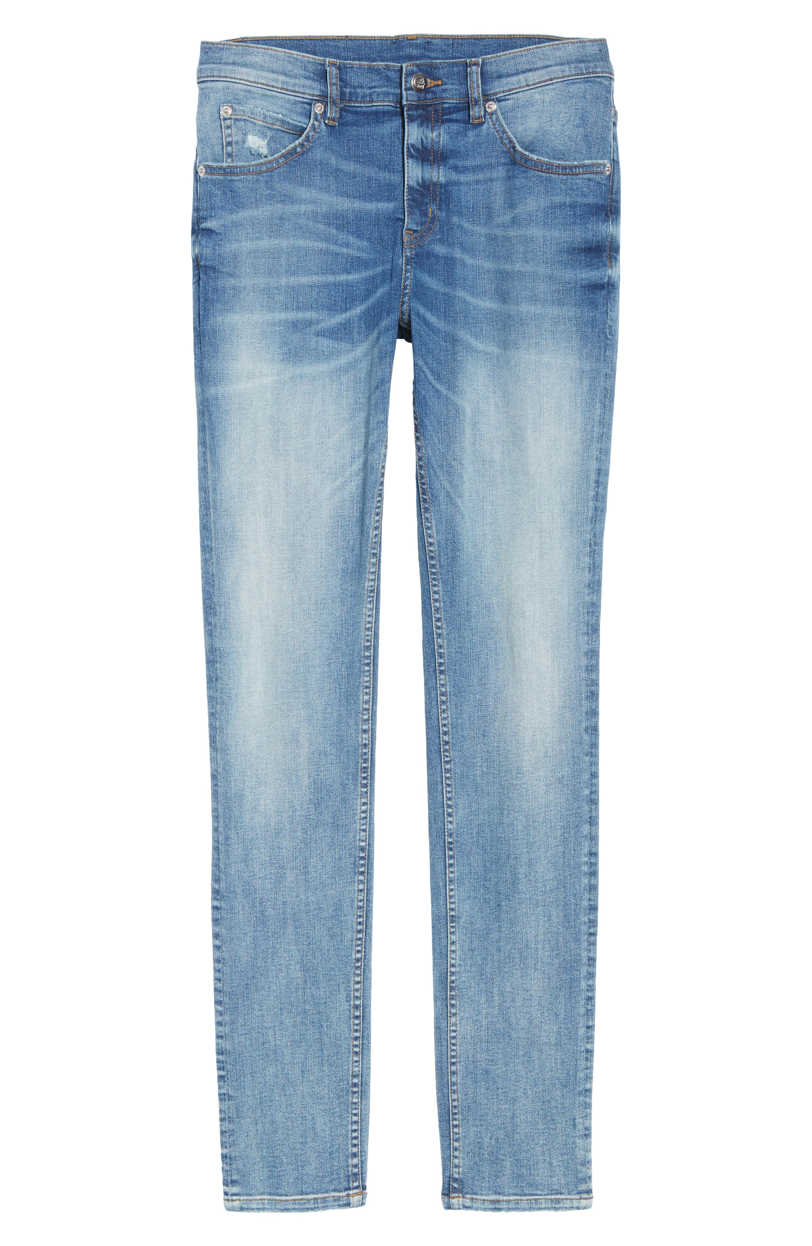Tight Skinny Fit Jeans,                             Alternate thumbnail 6, color,                             428