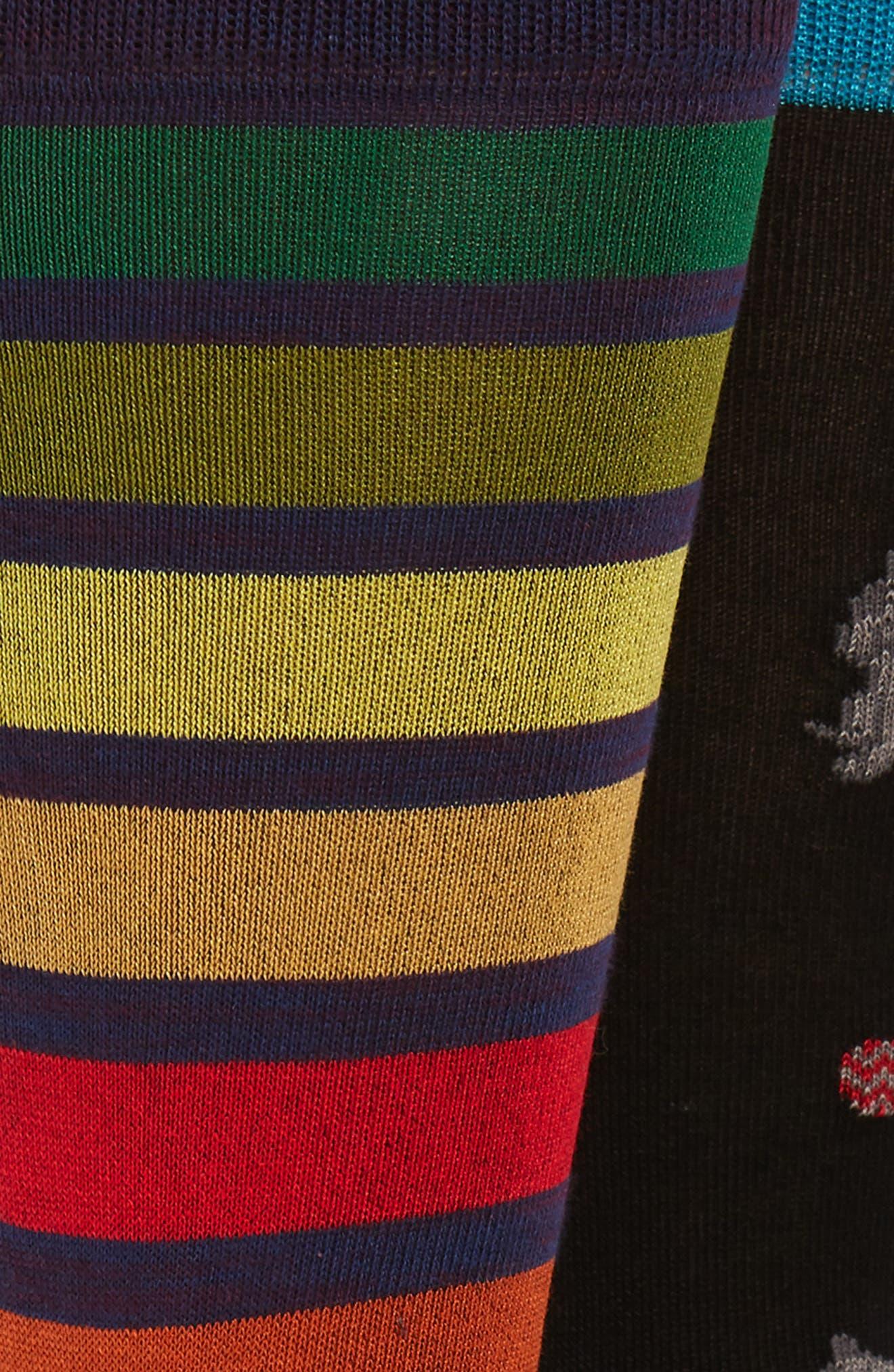 3-Pack Socks,                             Alternate thumbnail 2, color,                             BLACK