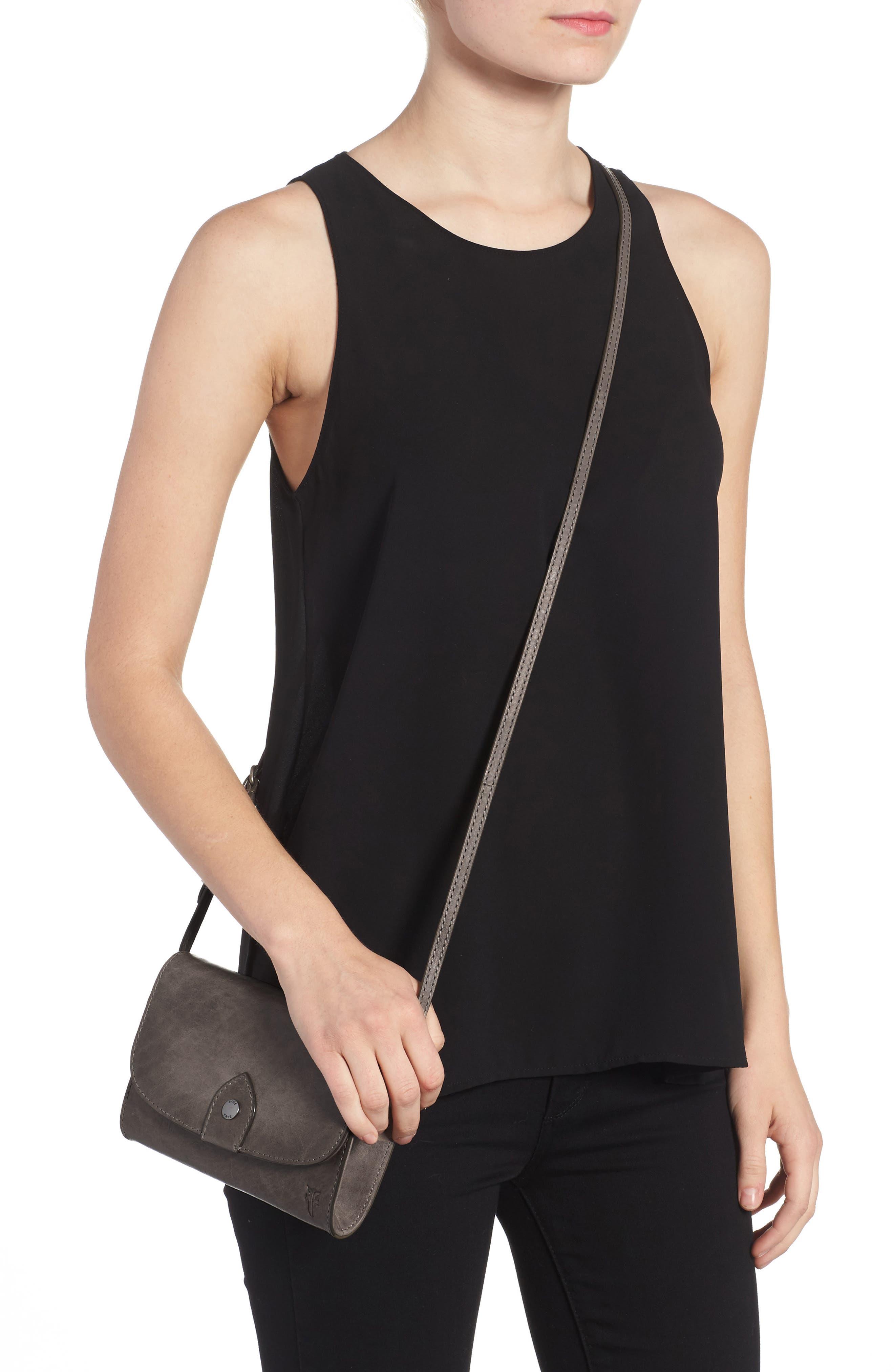 Melissa Leather Crossbody Bag,                             Alternate thumbnail 2, color,                             ICE