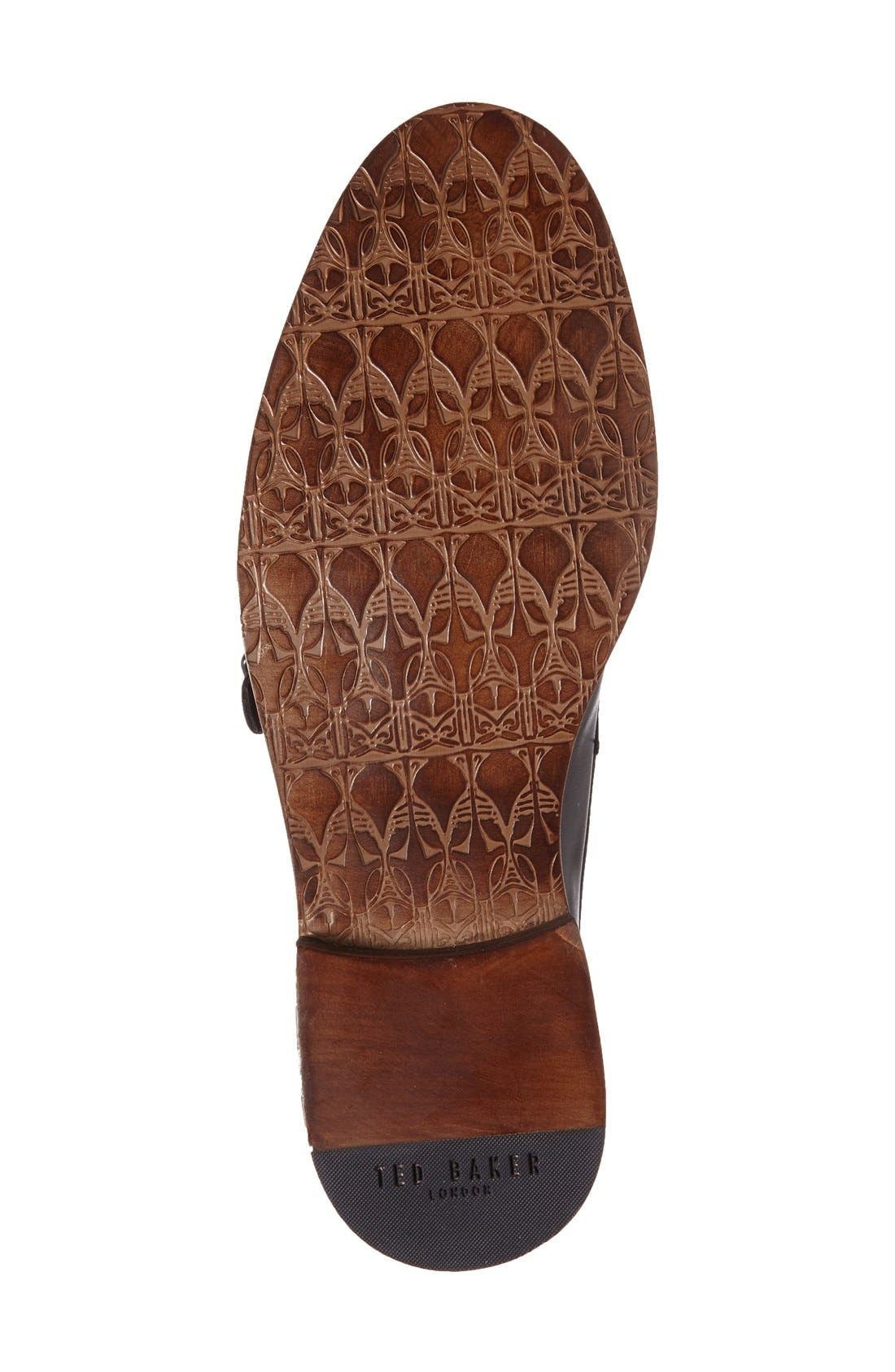 'Kartor 3' Double Monk Strap Shoe,                             Alternate thumbnail 4, color,                             001